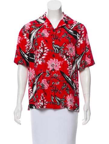 Prada 2016 Floral Button-Up None