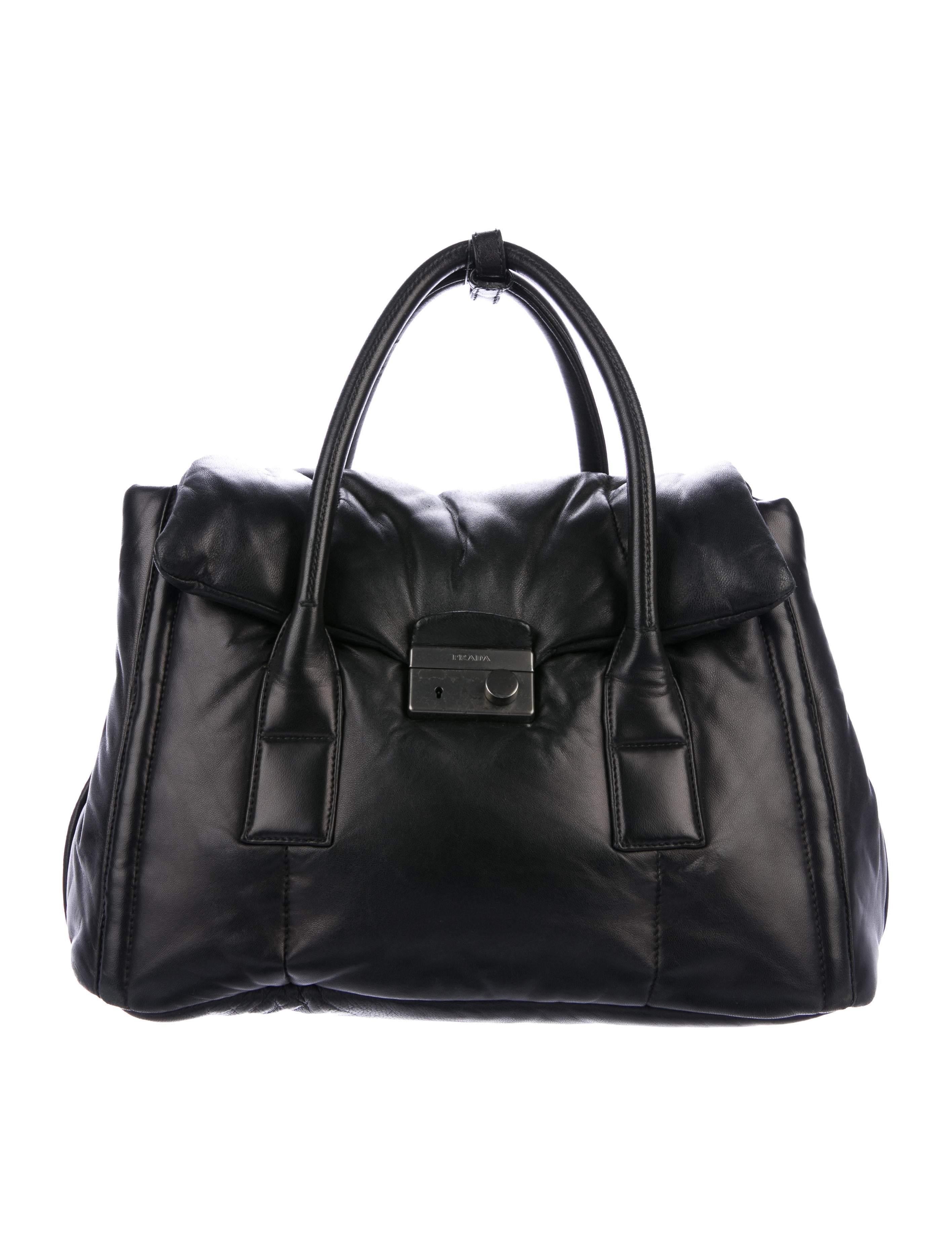 b96f4ba1b7ca Prada Nappa Gaufre Frame Bag - Handbags - PRA146949 | The RealReal