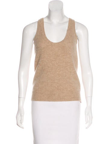 Prada Sleeveless Wool Top None