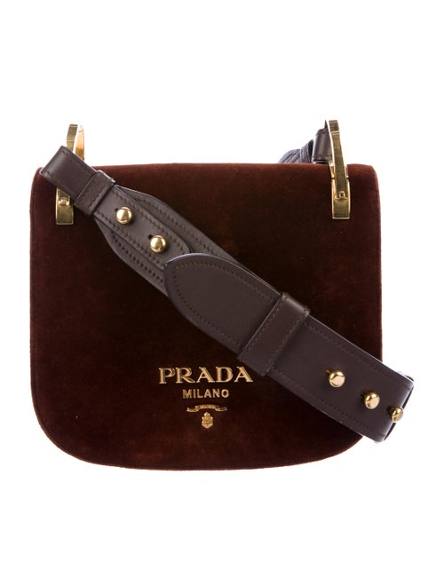 2e3d381ba096 Prada Pionnière Velvet Saddle Bag - Handbags - PRA194970   The RealReal