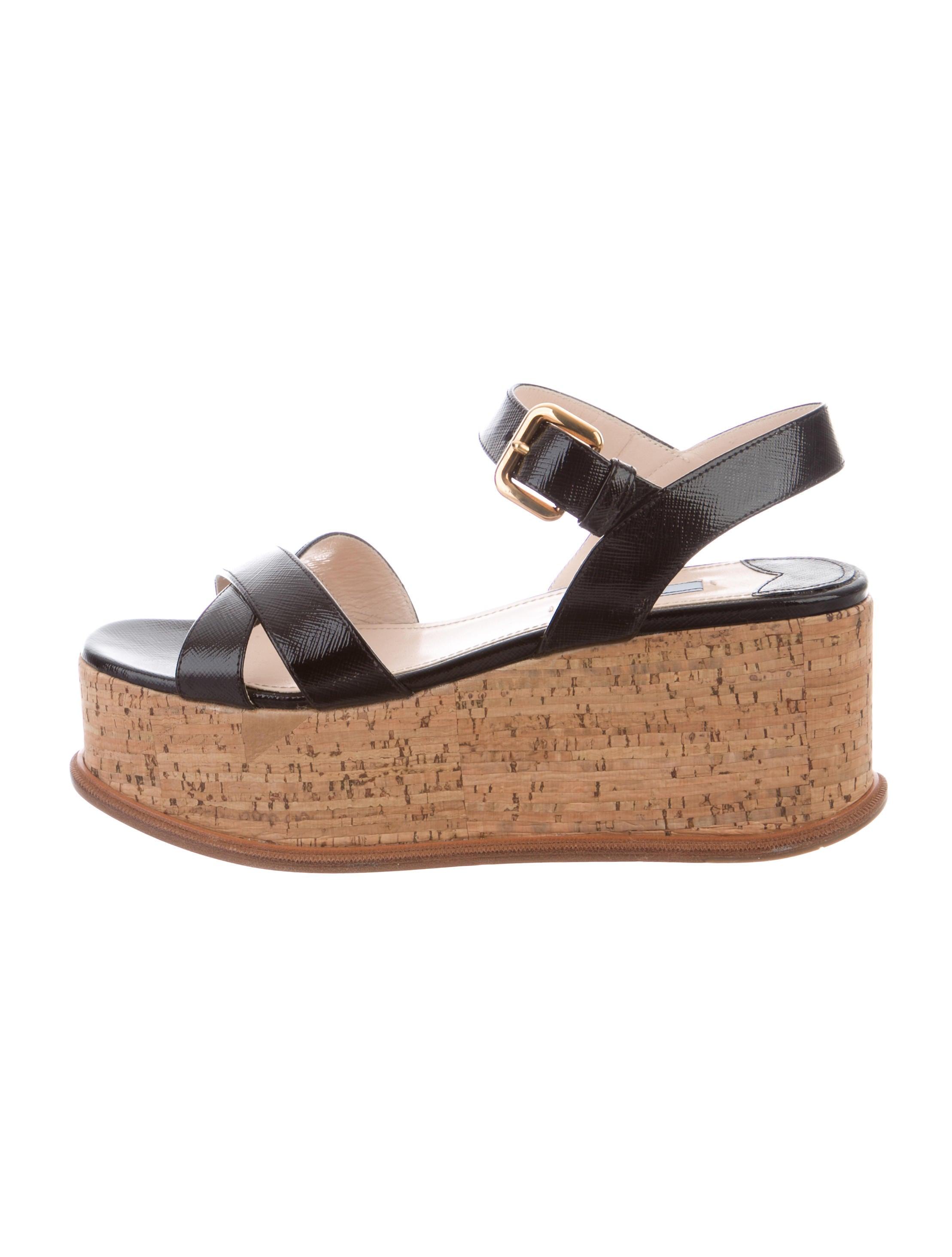 Prada Verice Wedge Sandals best sale amazon for sale cheap finishline X8zJ84