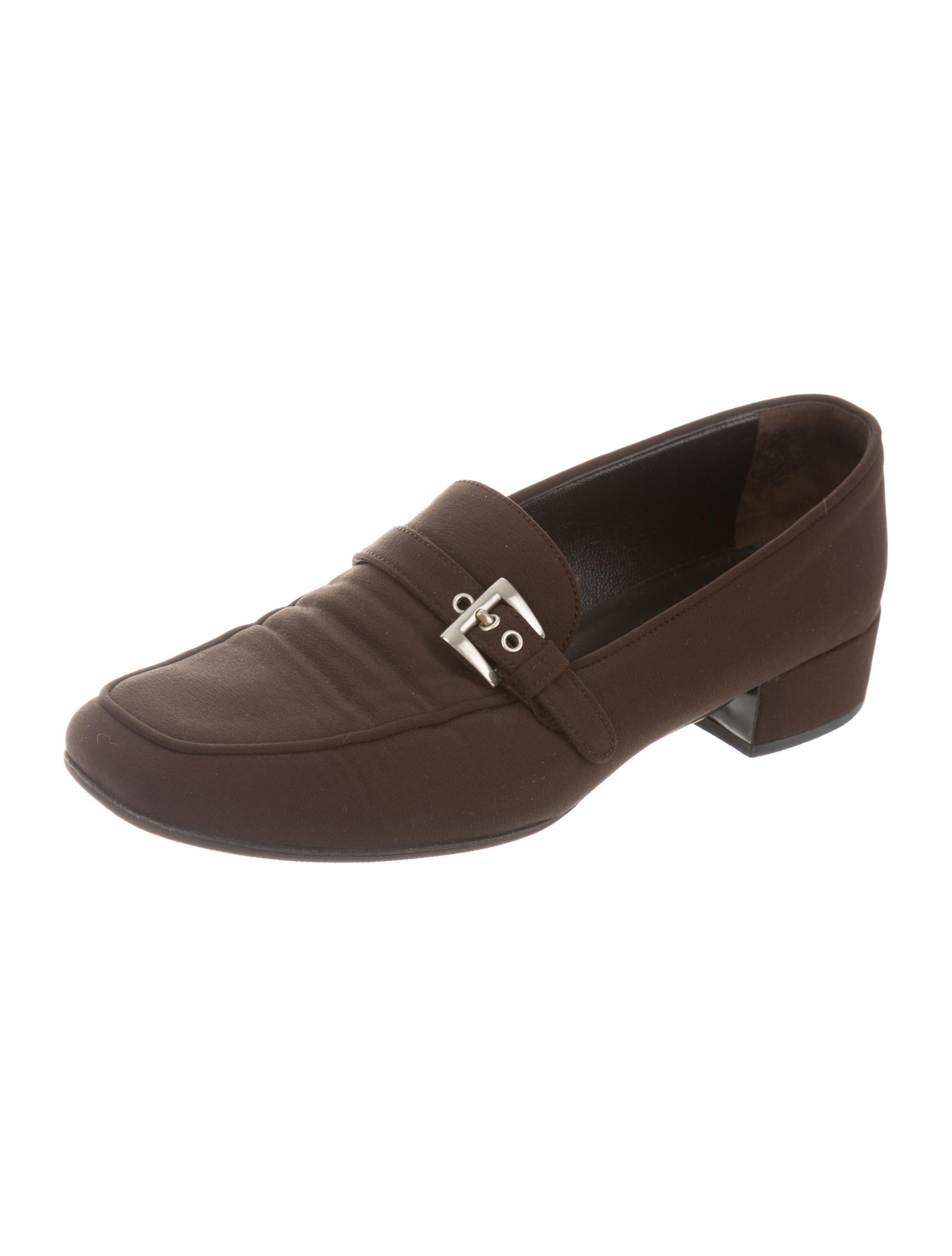Prada Buckle-Accented Square-Toe Loafers discount online fast delivery cheap price discount browse cheap sale reliable wDV54CnigI