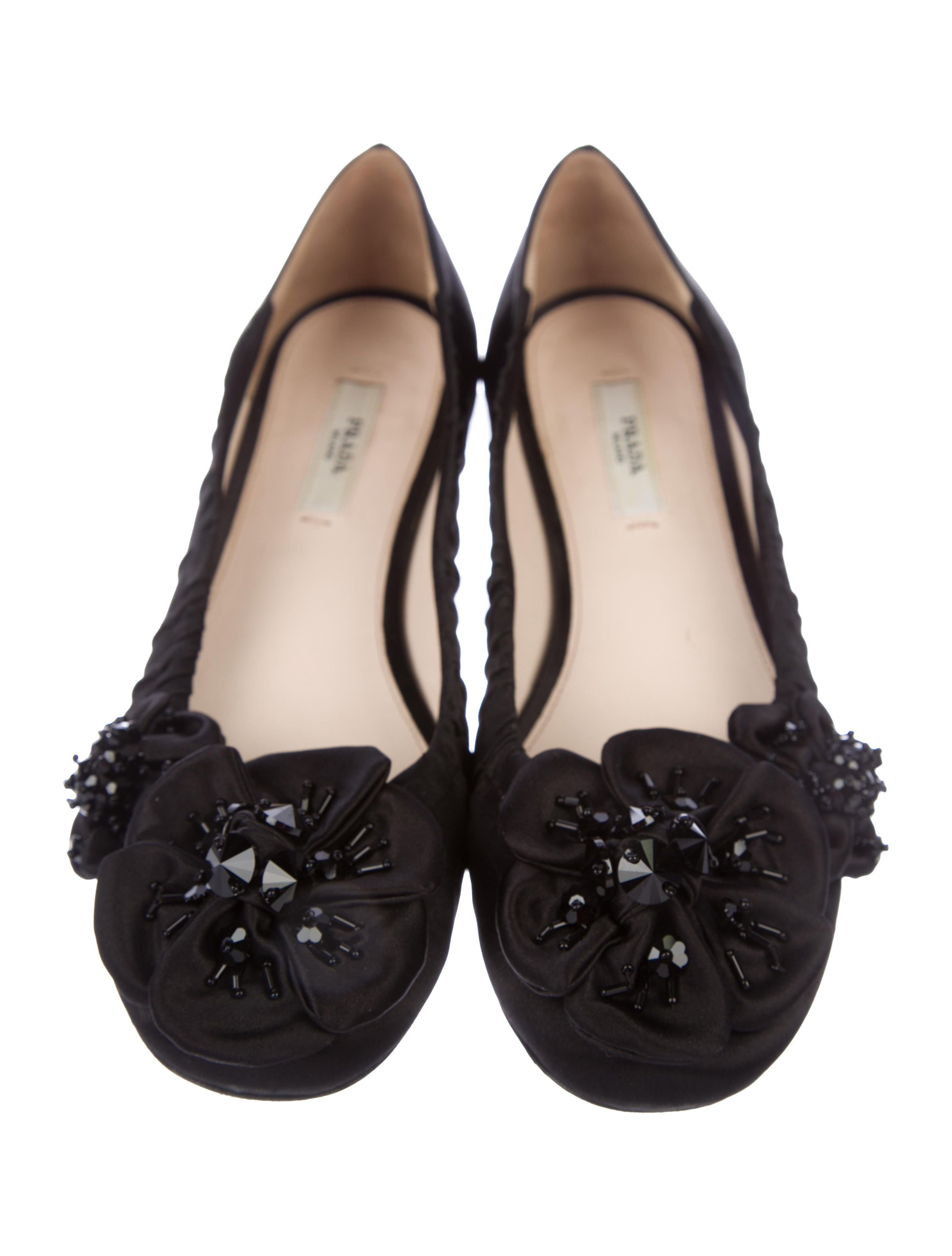 cheap 2015 free shipping 2015 Prada Satin Round-Toe Flats sale fashionable quality from china wholesale free shipping limited edition O4Sab1d8F