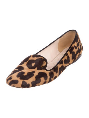 Ponyhair Logo Loafers