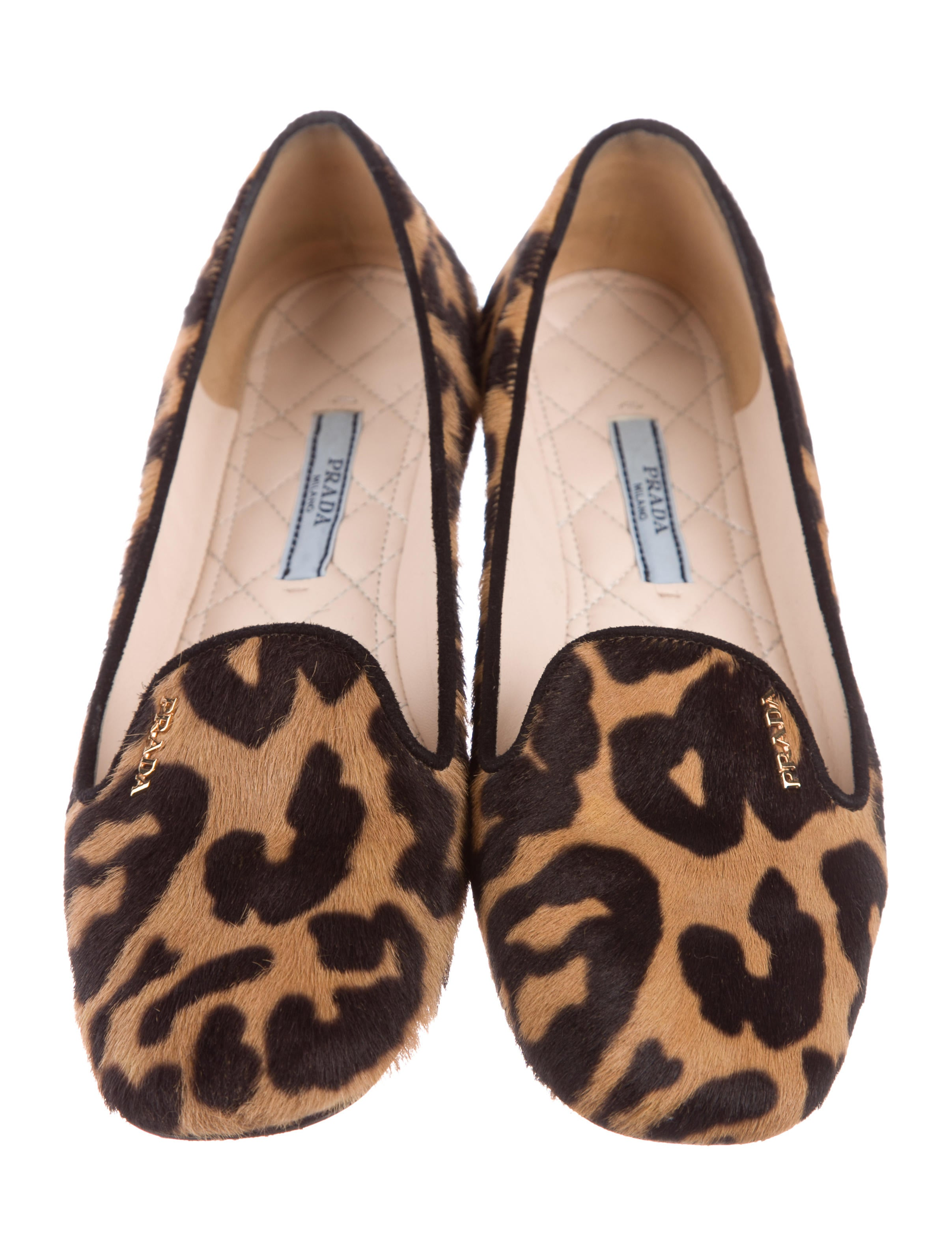 Prada Ponyhair Logo Loafers buy cheap pictures lbobF