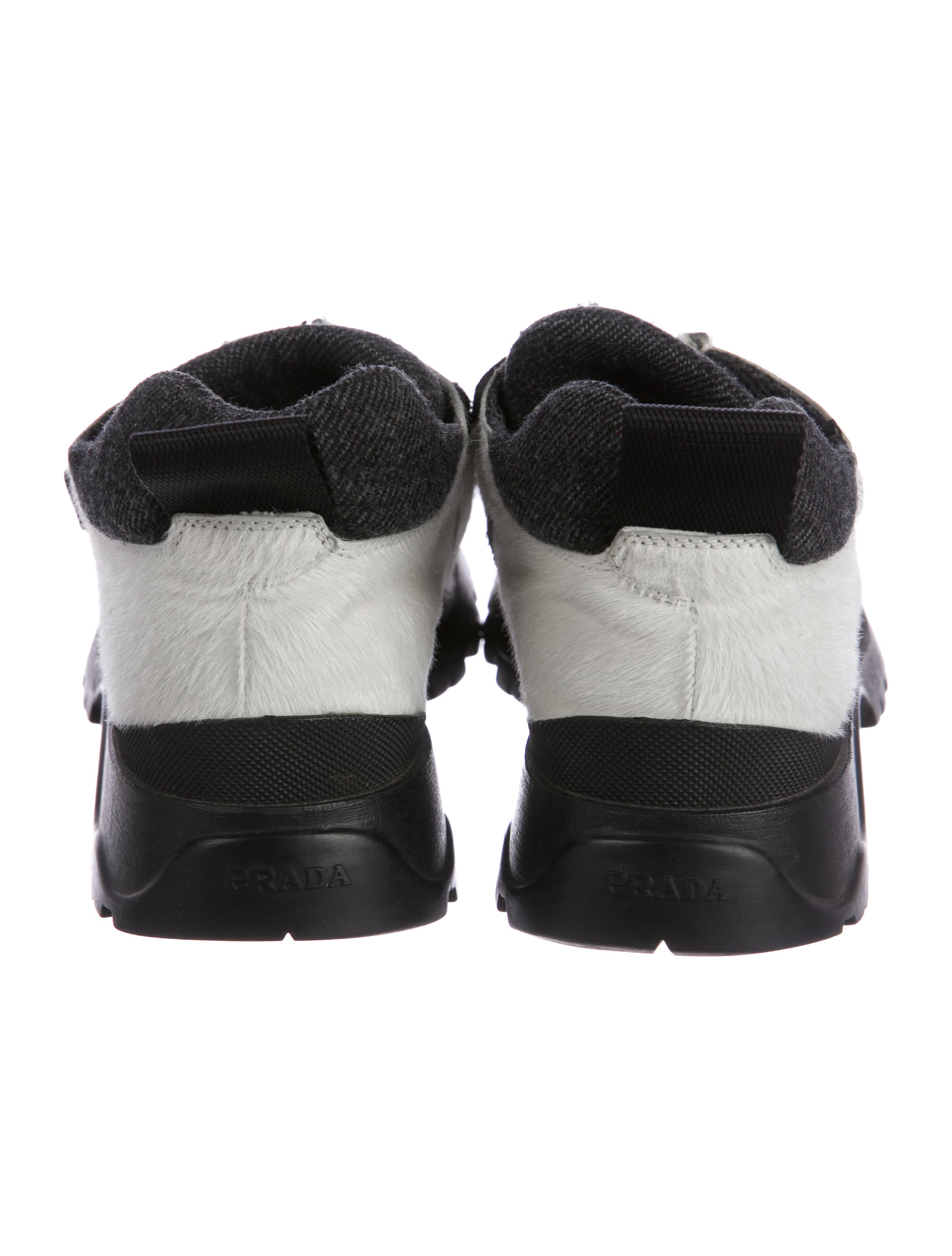 Prada Ponyhair Square-Toe Sneakers discount 2014 unisex for sale discount sale sbdOGV