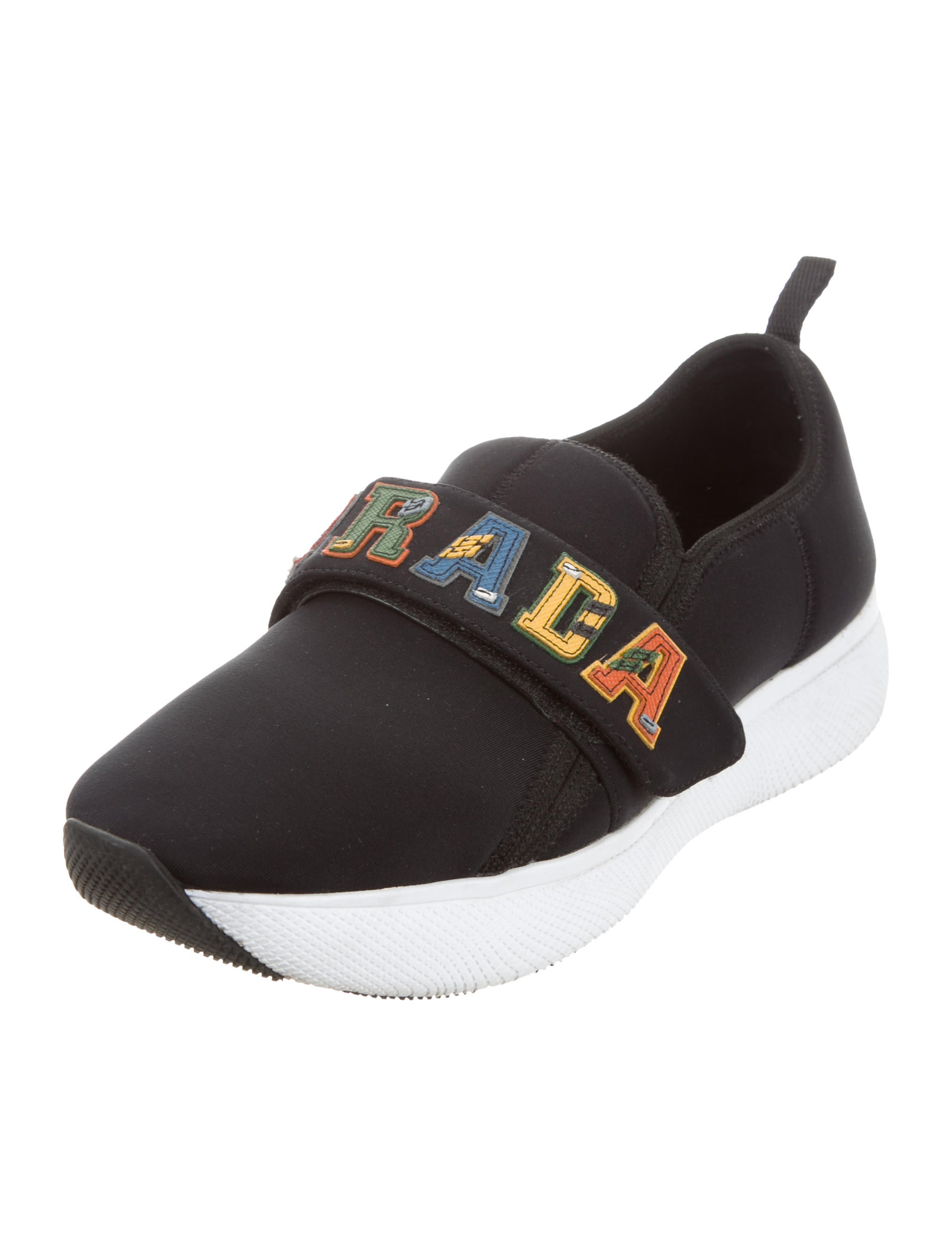 outlet good selling Prada 2018 Grip-Strap Sneakers clearance fake cheap sale 2014 H2HiCWft5