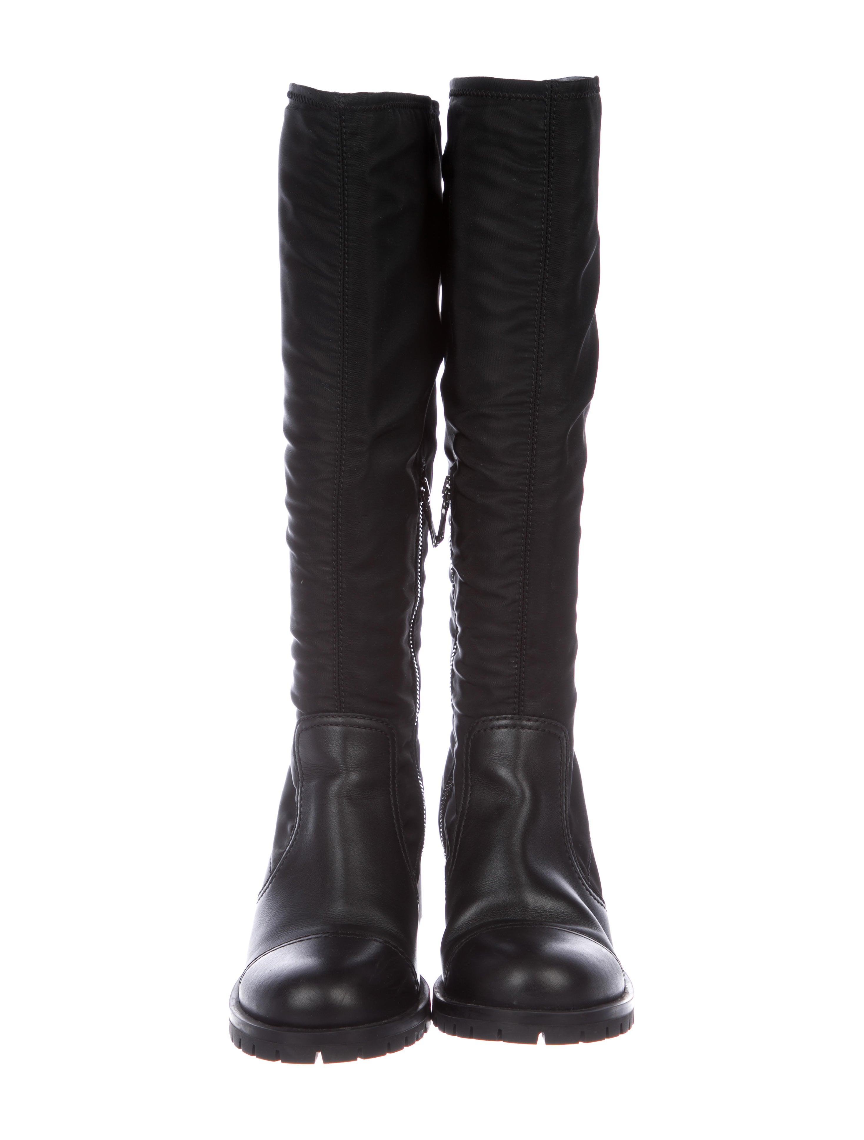 Prada Nylon Round-Toe Boots sale IrVQzM