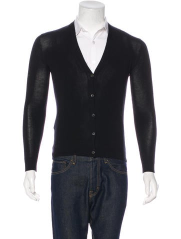 Prada Cashmere & Silk V-Neck Cardigan None