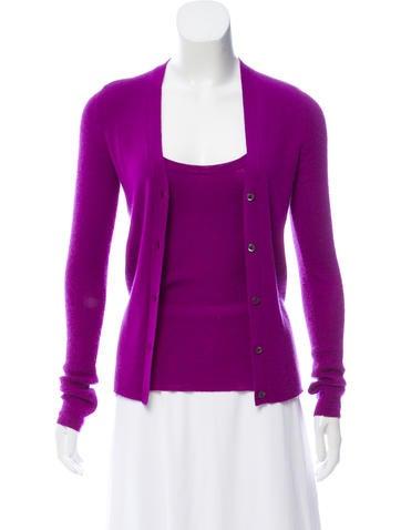 Prada Knit Long Sleeve Cardigan Set None