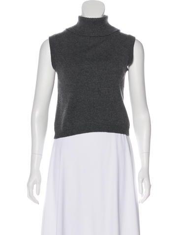 Prada Sleeveless Cashmere Sweater None