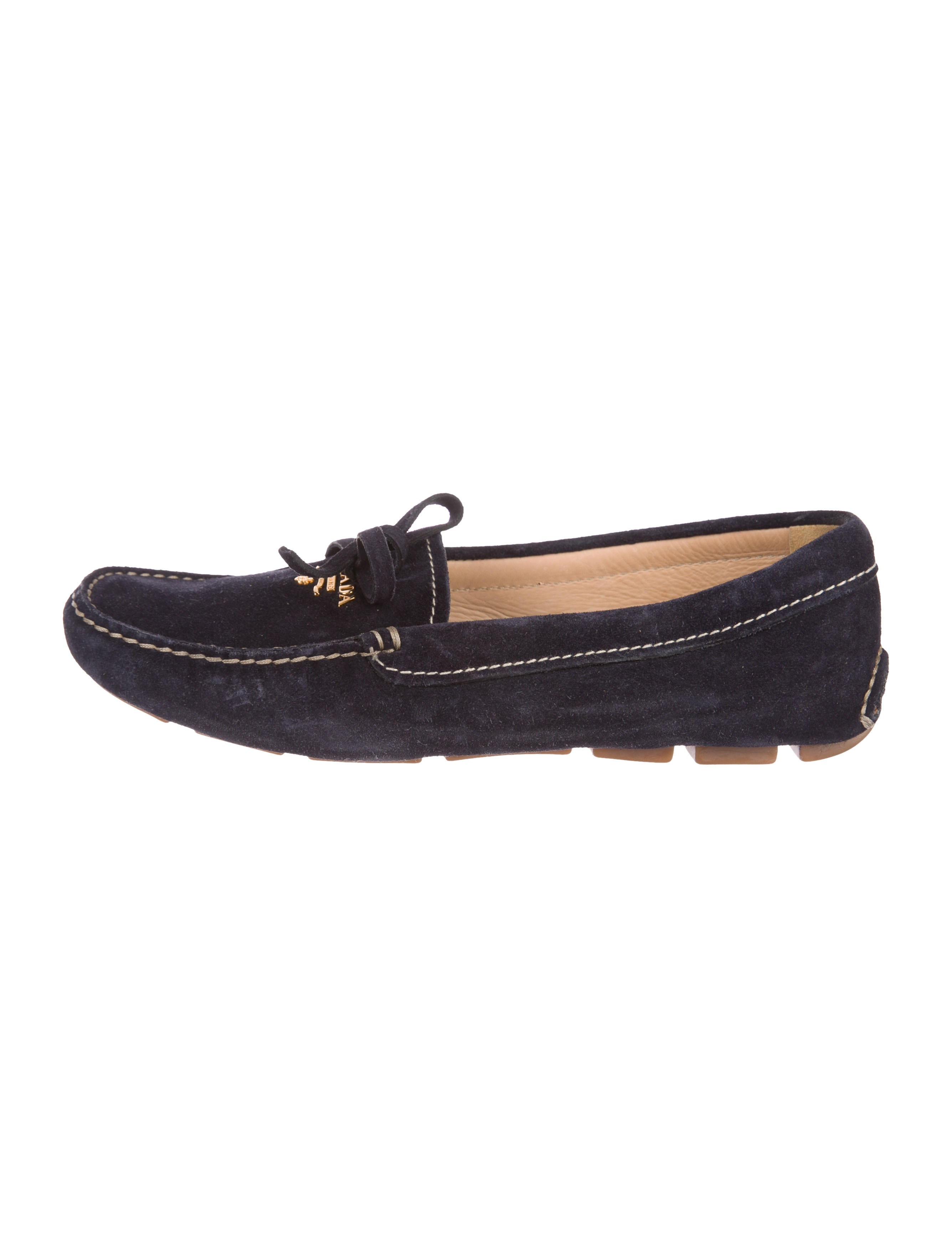 Prada Suede Square-Toe Loafers many kinds of cheap online cheap sale get authentic top quality cheap price 2PnhMXO