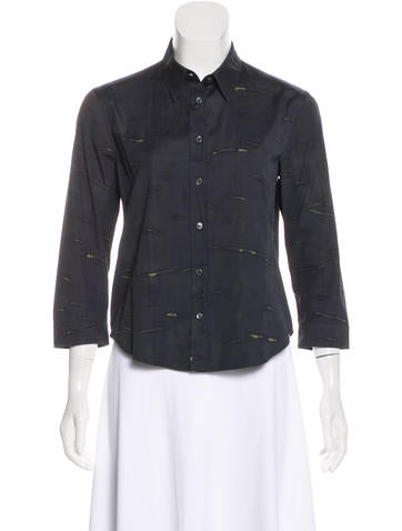 Prada Printed Button-Up Top None