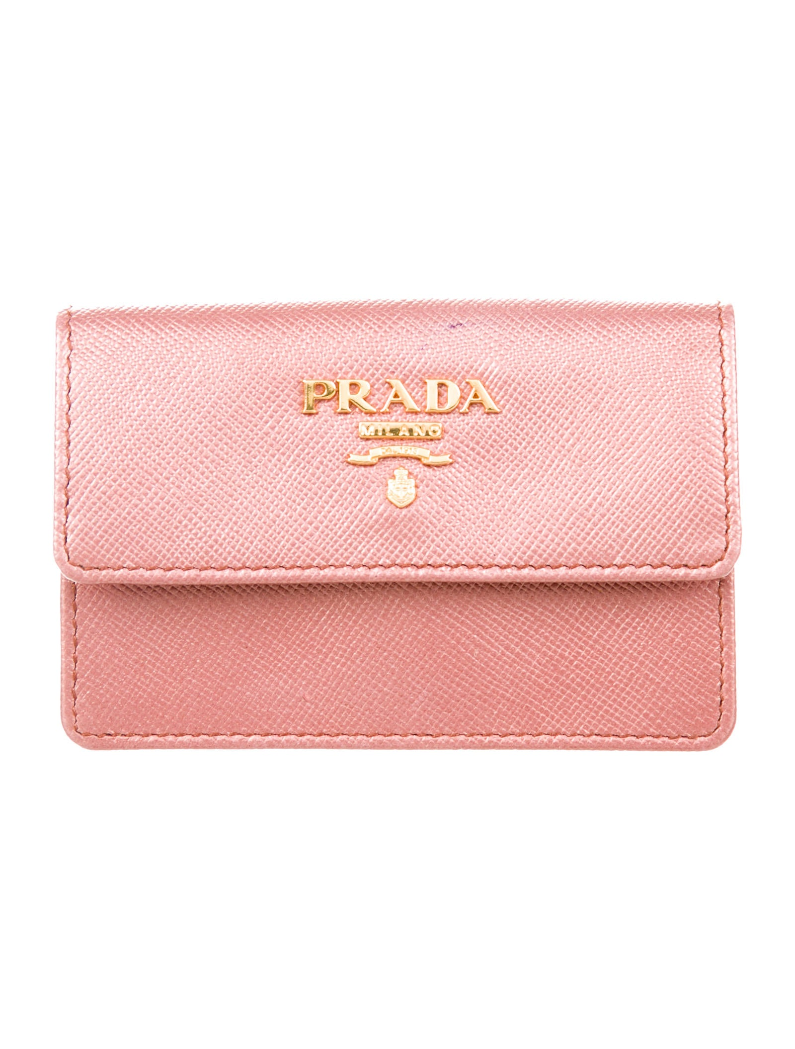 Prada Saffiano Business Card Holder - Accessories - PRA199824 | The ...