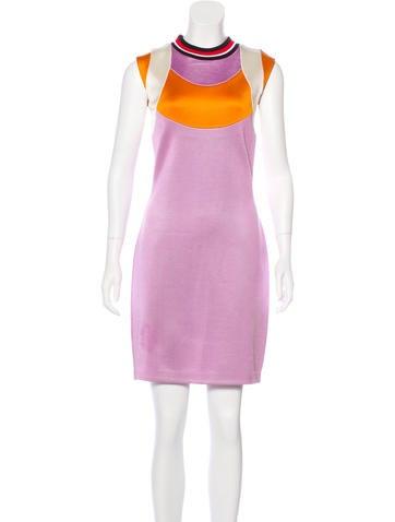 Prada Colorblock Knee-Length Dress None
