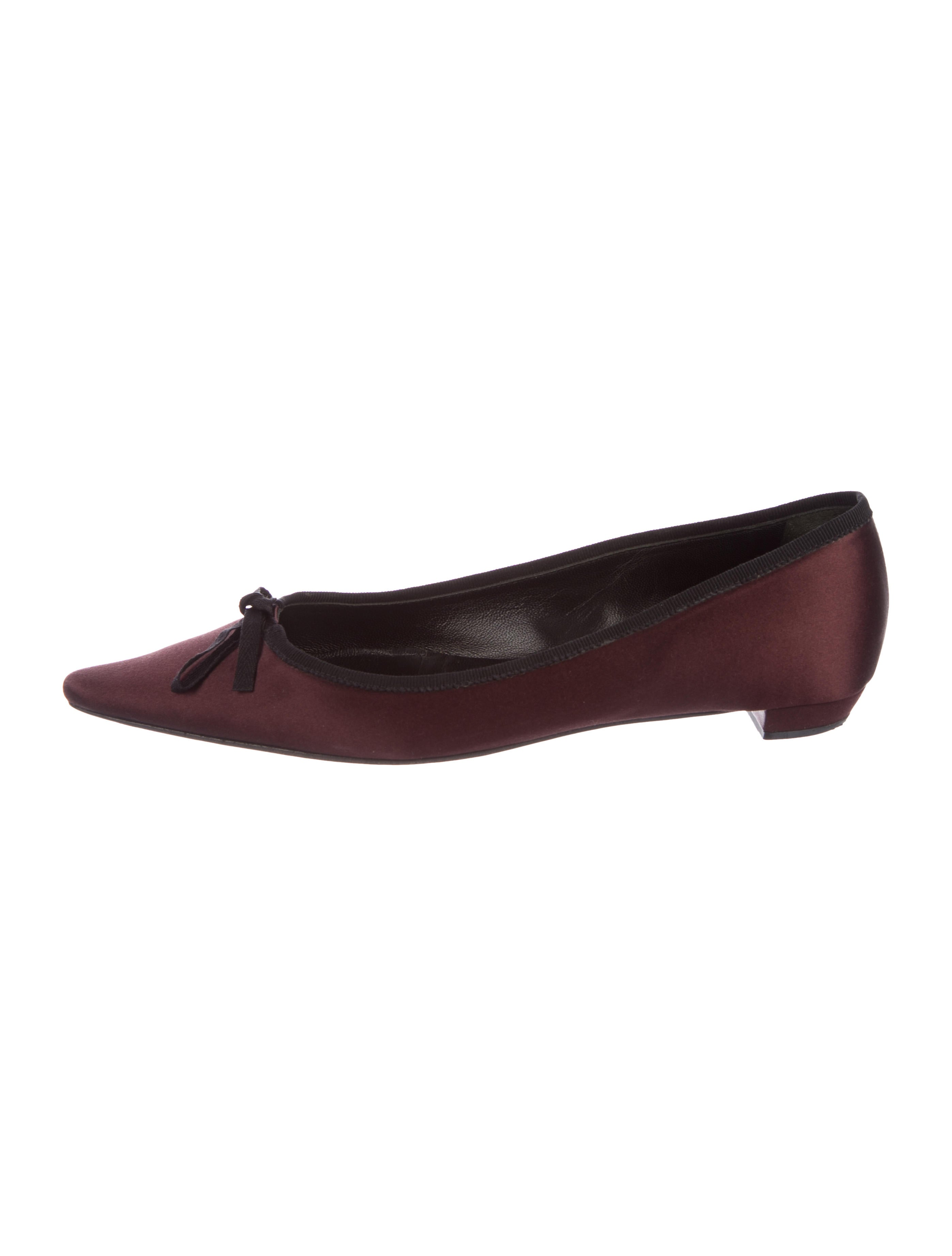 2014 newest cheap online buy cheap 100% guaranteed Prada Satin Pointed-Toe Flats footlocker finishline cheap online sale reliable EKnia