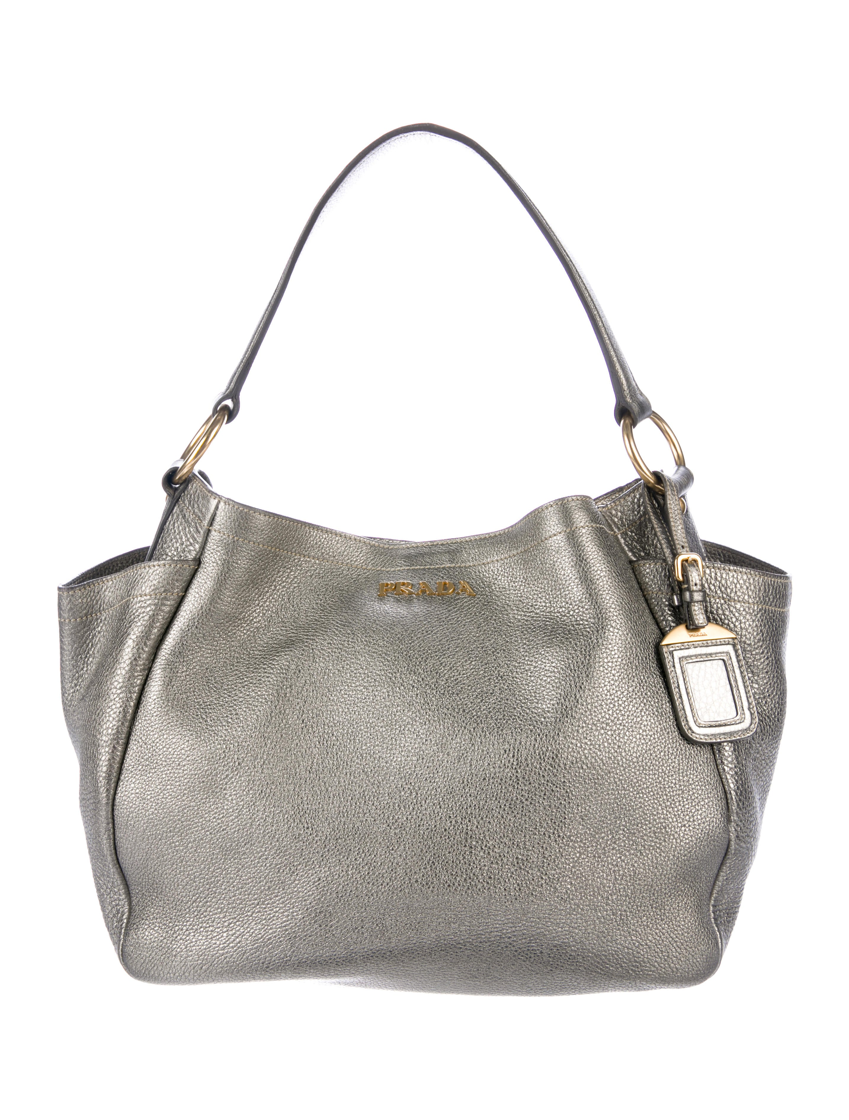 7e4cdb60d95f pre owned at therealreal prada vitello daino pocket tote detailing ...
