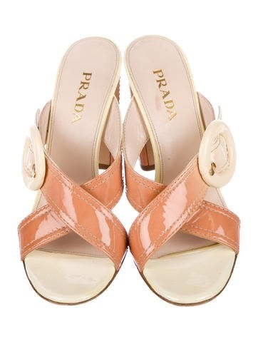 get to buy cheap price many kinds of cheap price Prada Ombré Slide Sandals sale pick a best buy cheap how much aUiju9w4v