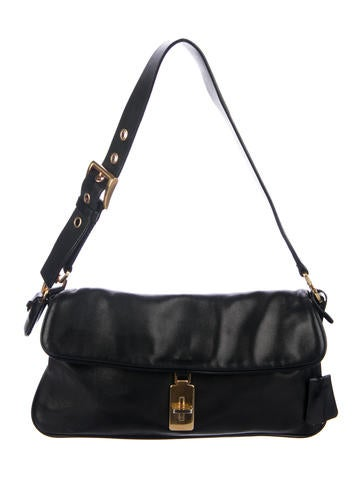 0e2c4d3632 Prada Leather-Trimmed Easy Bag - Handbags - PRA216361
