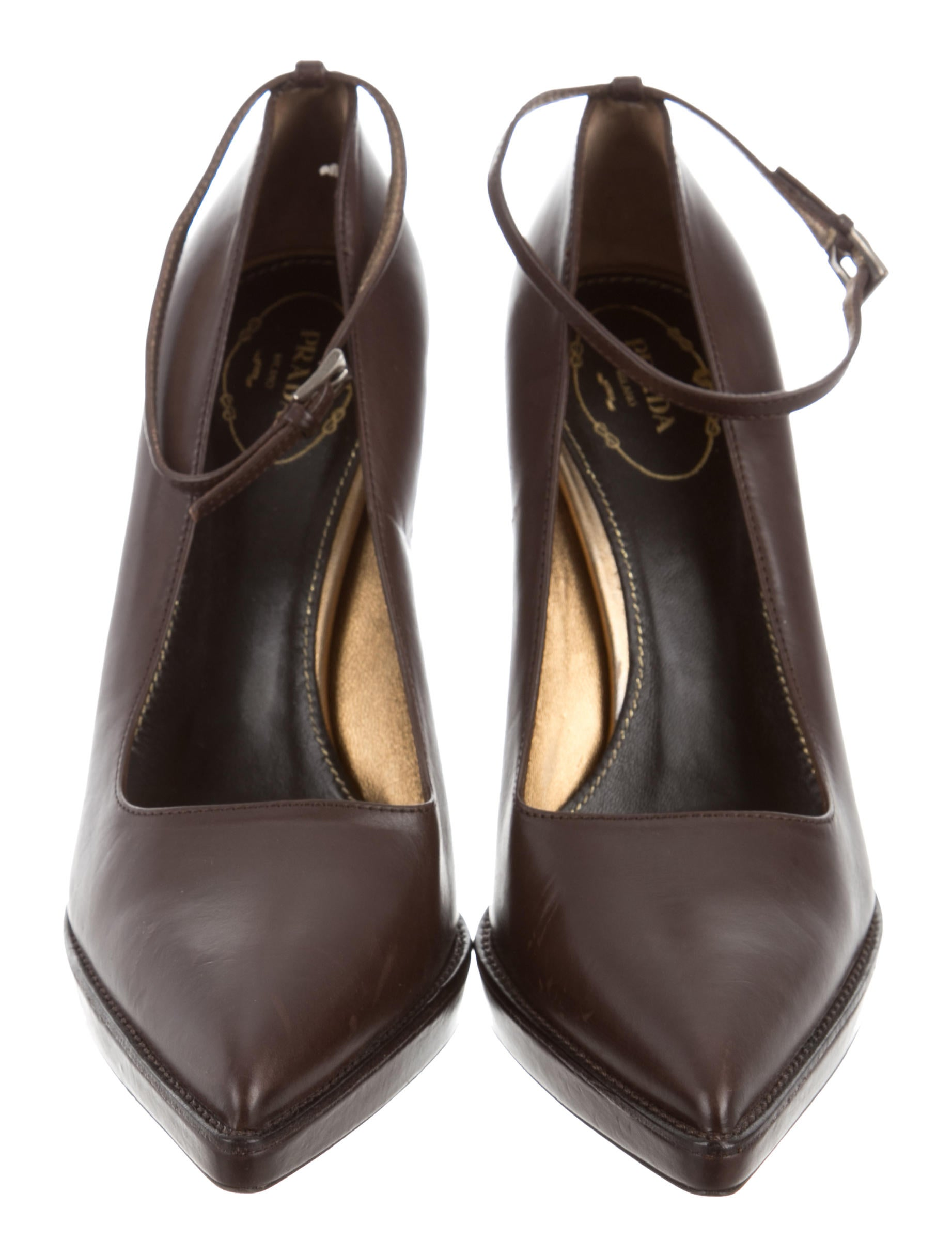 Prada Calzature Donna Leather Pumps w/ Tags cheap sale tumblr YnwYhZjZ4