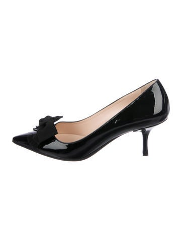 Prada Patent Leather Bow-Adorned Pumps deals for sale official site cheap sale 2015 new 2A2Ry