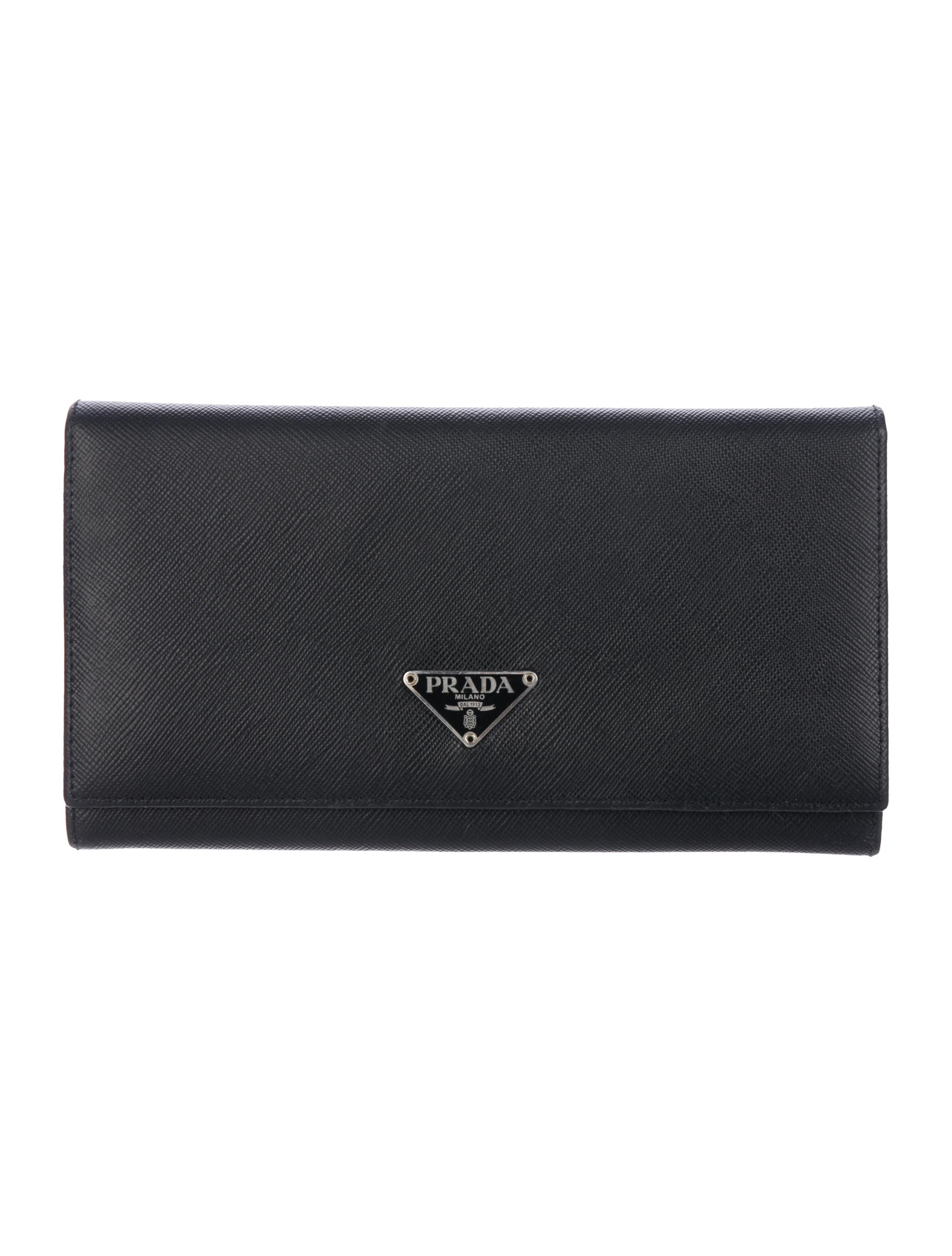 d644d9e14d22e4 Prada Saffiano Flap Wallet - Accessories - PRA208350 | The RealReal