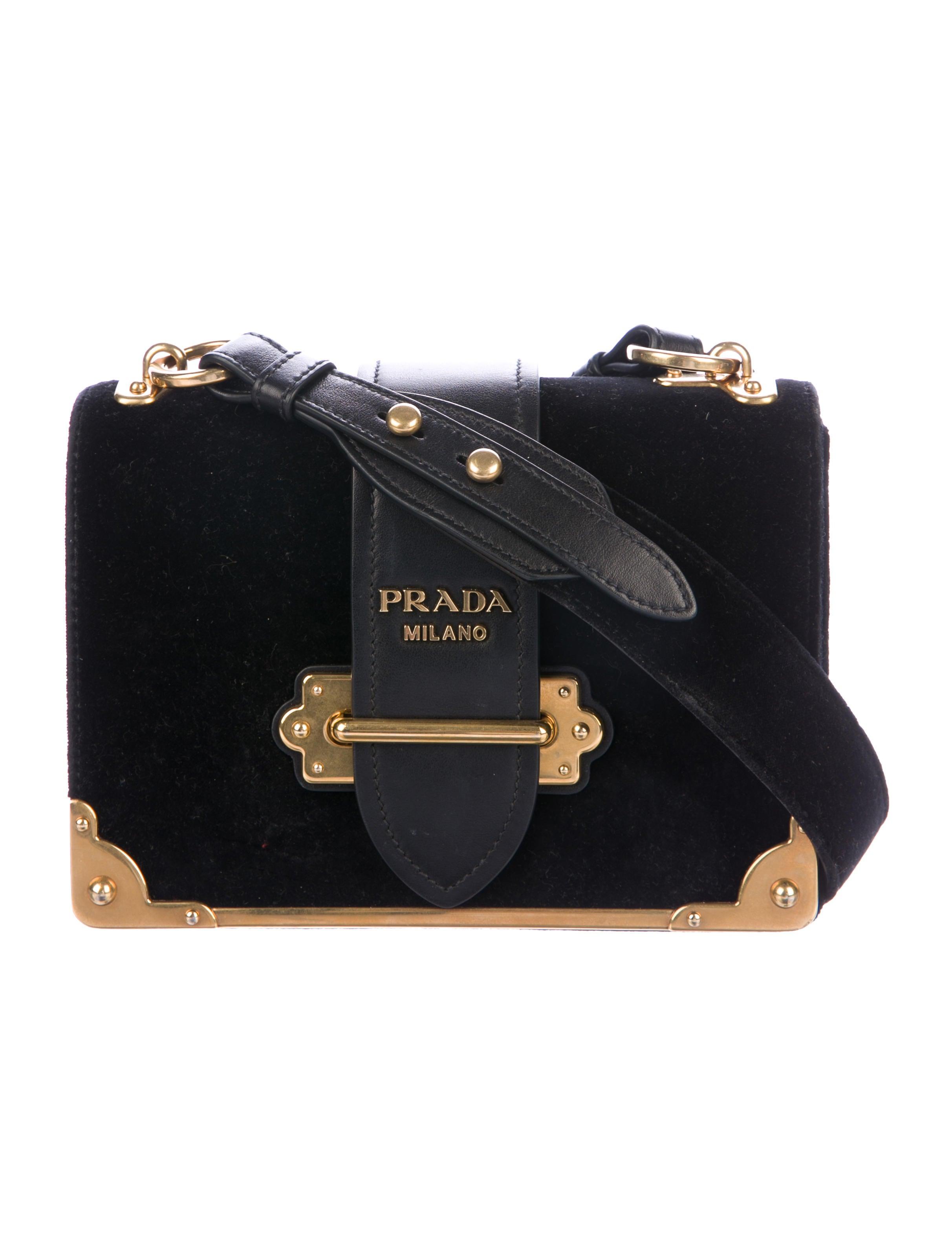 12bb0145c583 Prada Cahier Velvet Bag - Handbags - PRA209934 | The RealReal