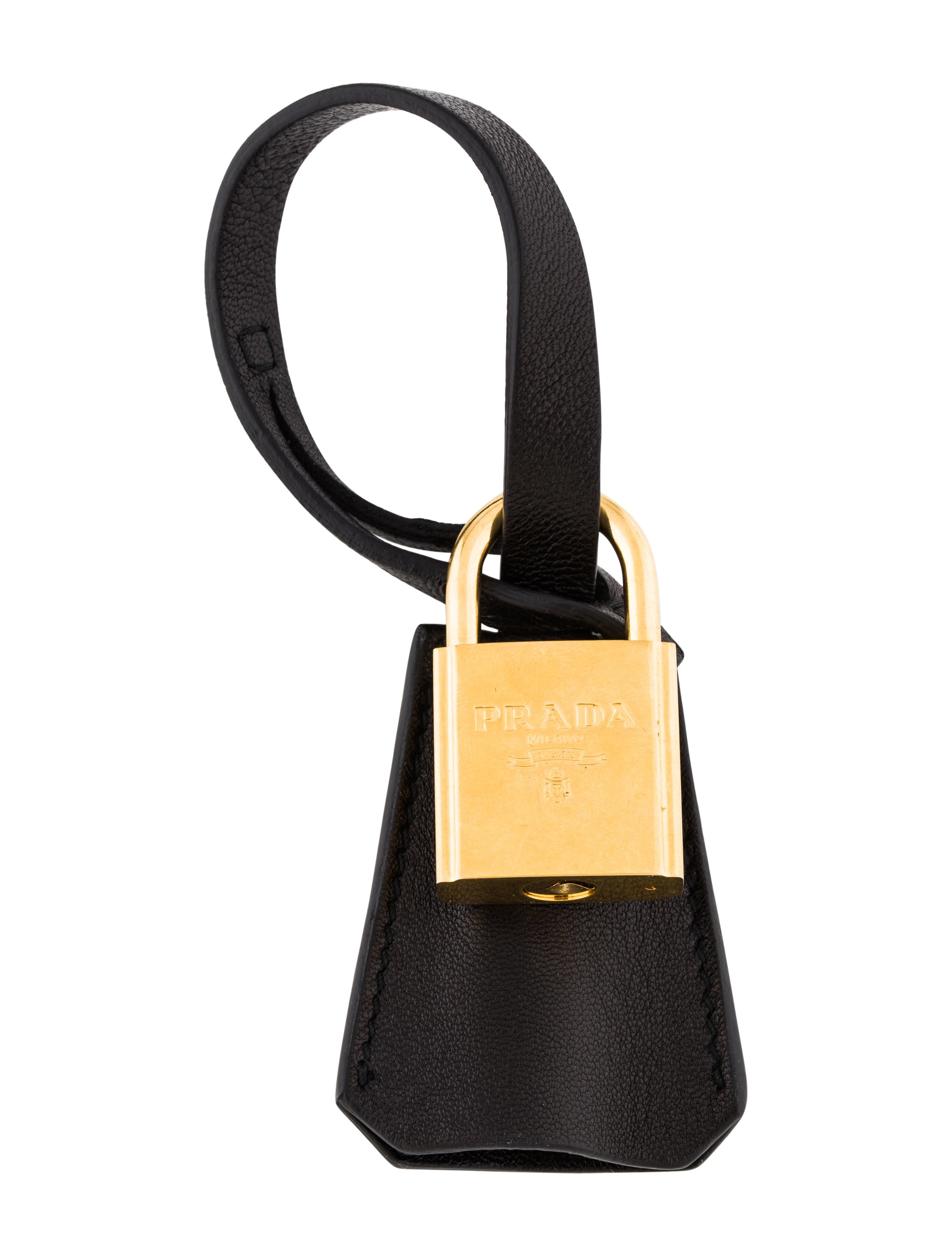 85ab2f3ae8bc Prada Lock   Key Bag Charm - Accessories - PRA210067