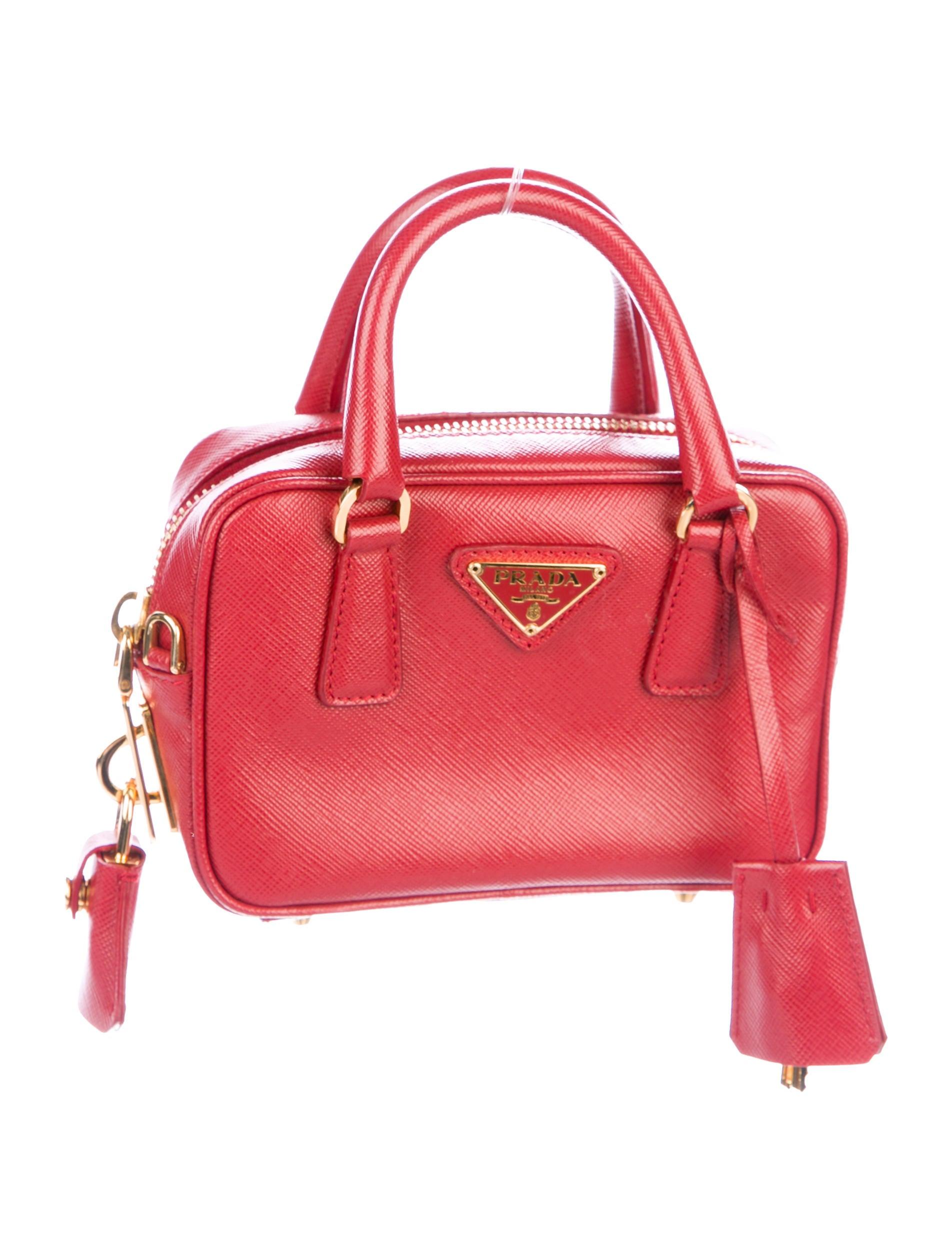 90ba474b48652a Prada Saffiano Lux Mini Bauletto Bag - Handbags - PRA214058 | The ...