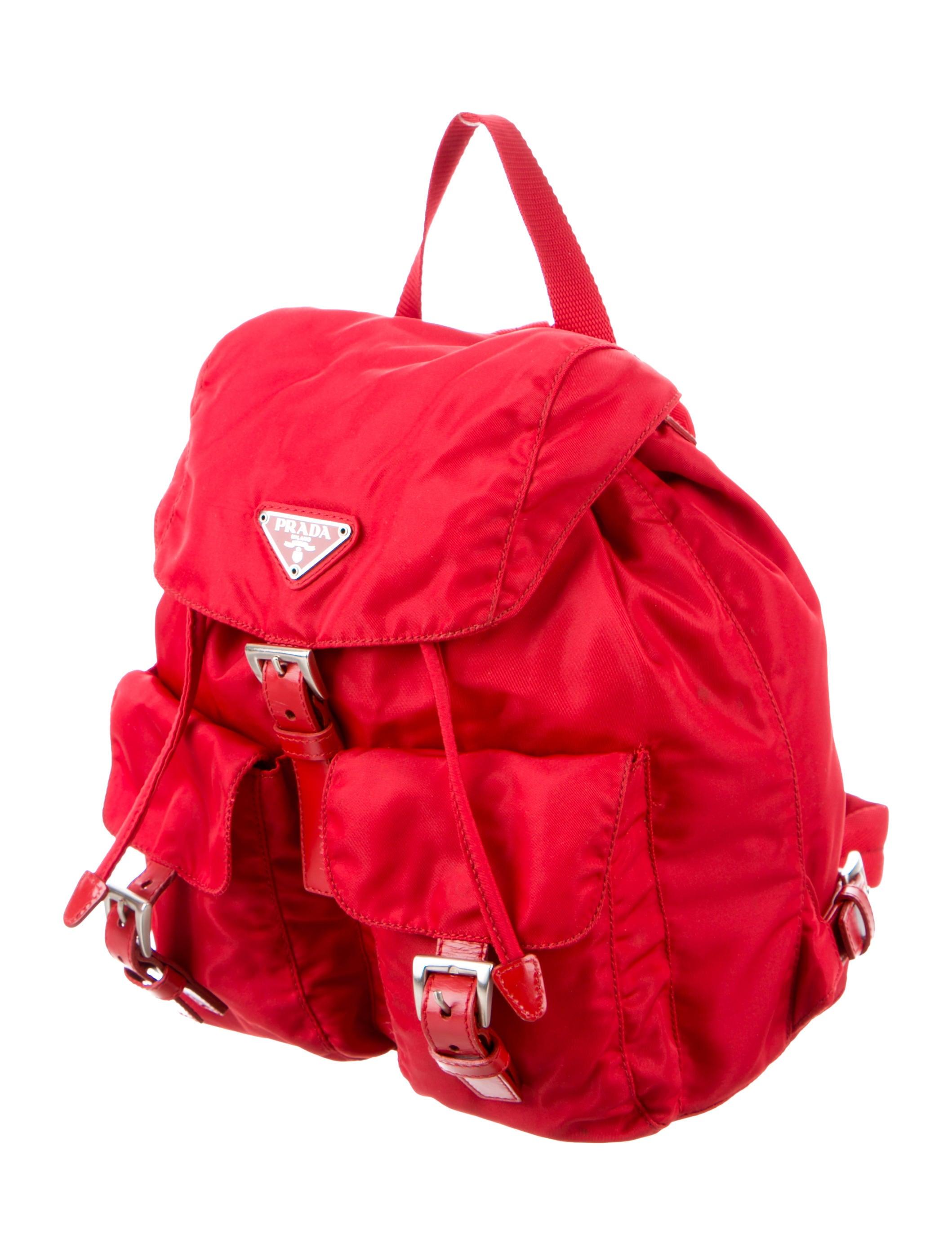 fb25b0660275 Prada Leather-Trimmed Vela Backpack - Handbags - PRA219225