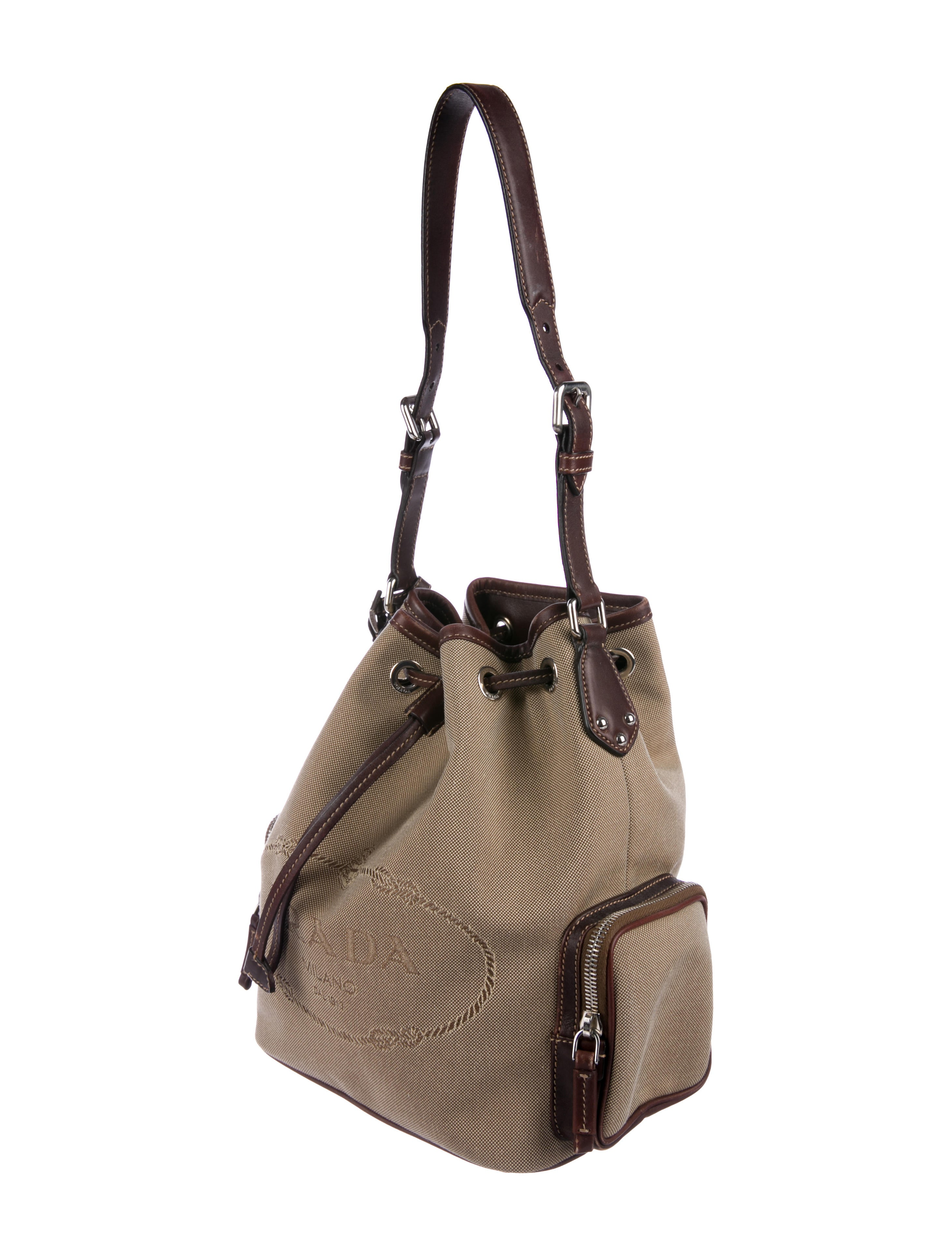 fe547d3bc0c8 Trimmed Prada Canvas Bucket Bag Leather AO05qwv for forced ...