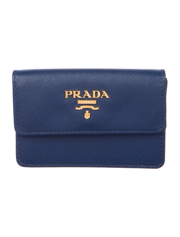 Prada saffiano business card holder accessories pra219392 the saffiano business card holder colourmoves