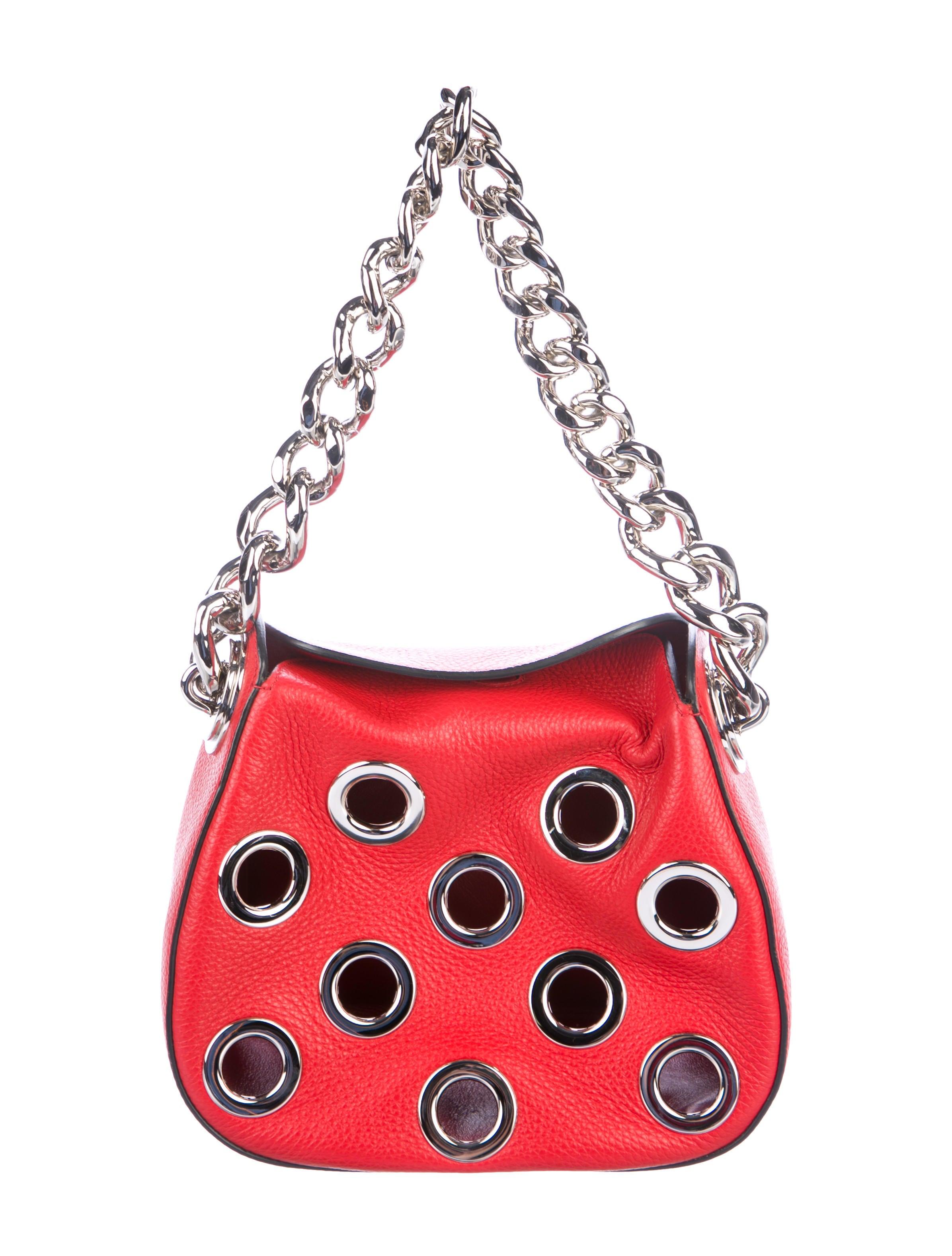 3b196c1b3345 Prada 2016 Grommet Vitello Daino Chain Hobo - Handbags - PRA219978 ...
