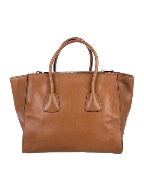 daaf6a251482 Prada Glace Calf Twin Pocket Tote - Handbags - PRA220552 | The RealReal