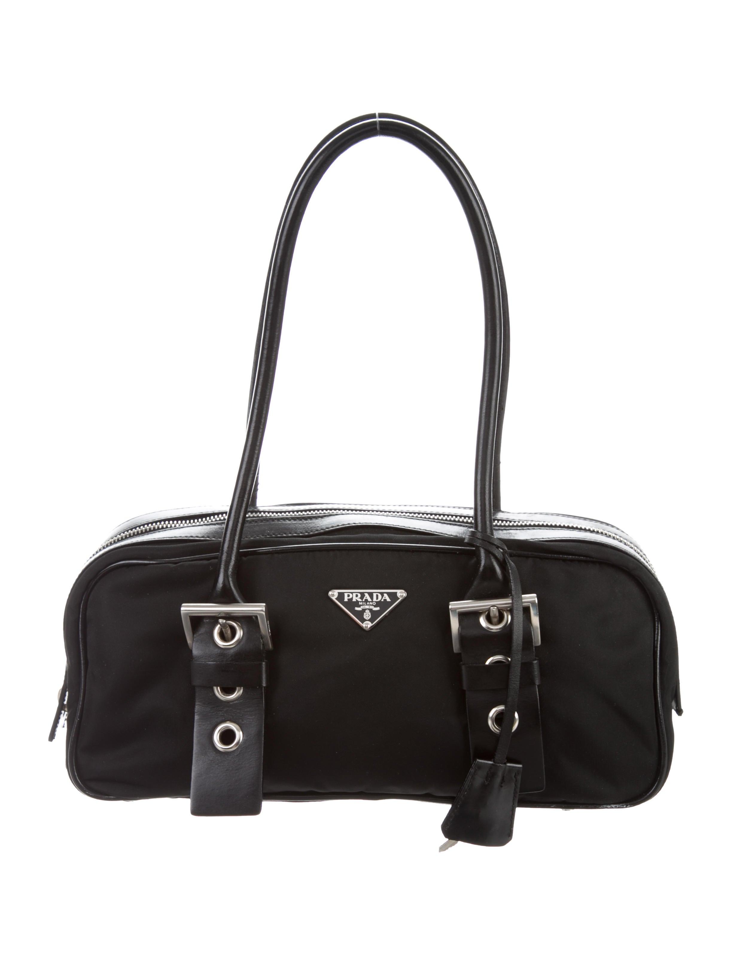 beeb0365a2fc Prada Leather Trimmed Tessuto Prada Prada Prada Tessuto Leather Leather Bag Trimmed  Trimmed Bag Tessuto Bag ...
