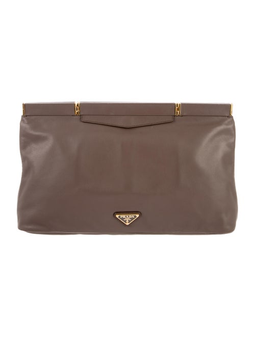 984b2044cc7f Prada Soft Calf Frame Clutch - Handbags - PRA222572 | The RealReal