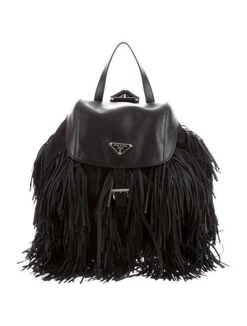 150c0d754311de Prada Tessuto & Soft Calf Fringe Backpack - Handbags - PRA227558 ...