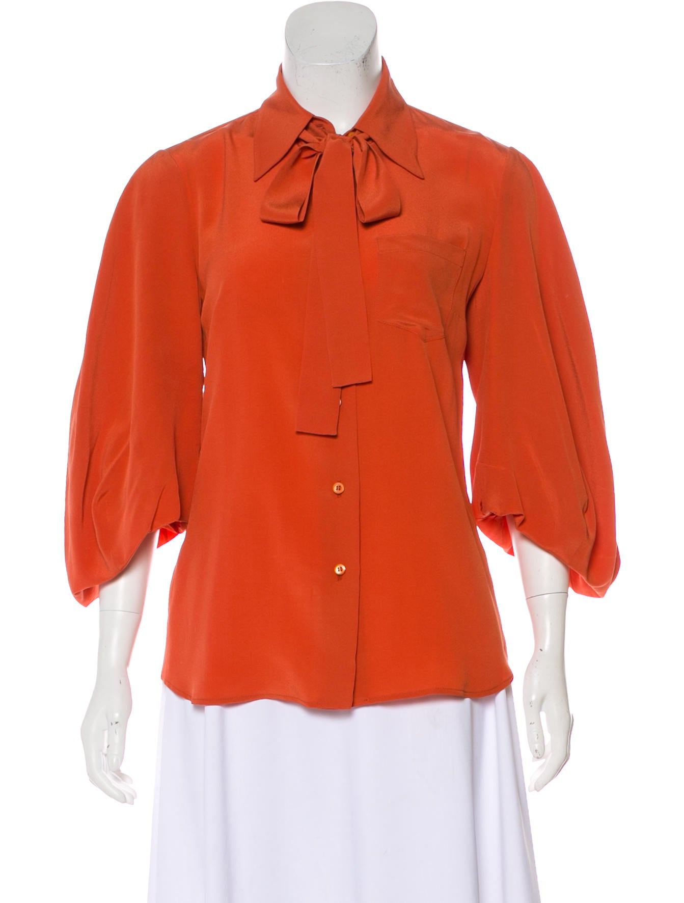 c325cf31a5e15f Prada Silk Button-Up Blouse - Clothing - PRA228526