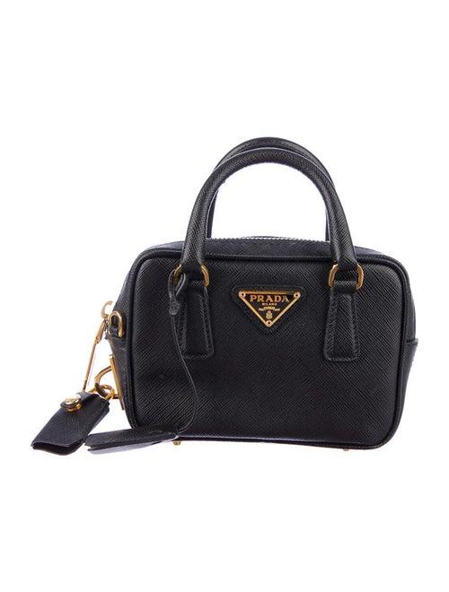 0cfeb2f1eb0a Prada Saffiano Lux Mini Satchel - Handbags - PRA23112   The RealReal
