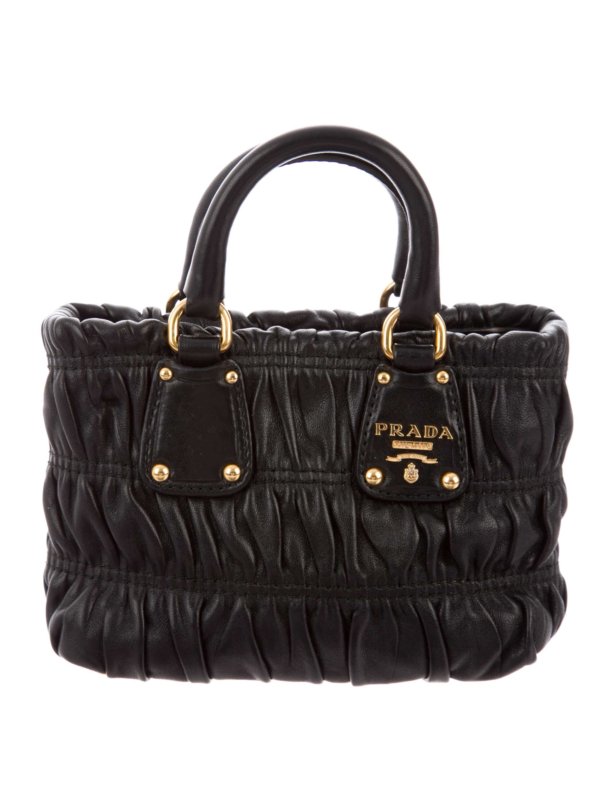 6f3d40b9b641 Prada Mini Nappa Gaufre Crossbody Bag - Handbags - PRA231562   The ...