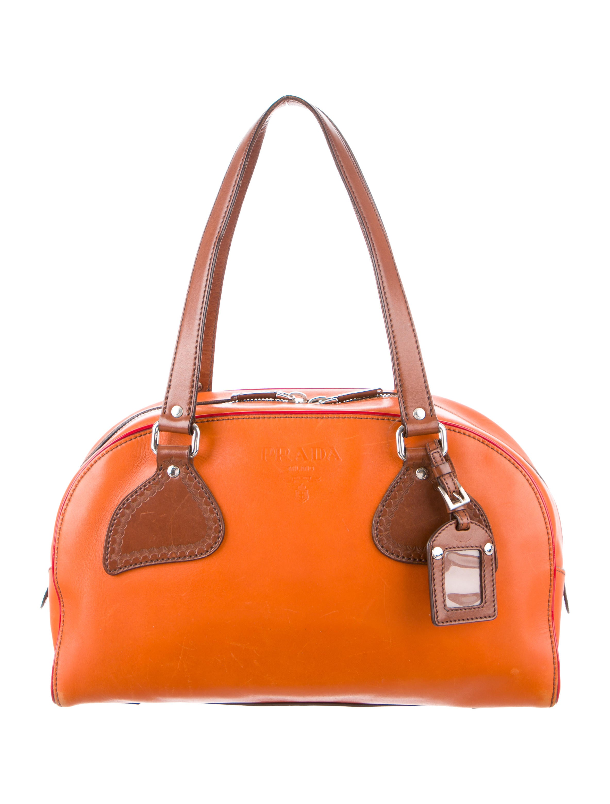Leather Bowler Bag by Prada