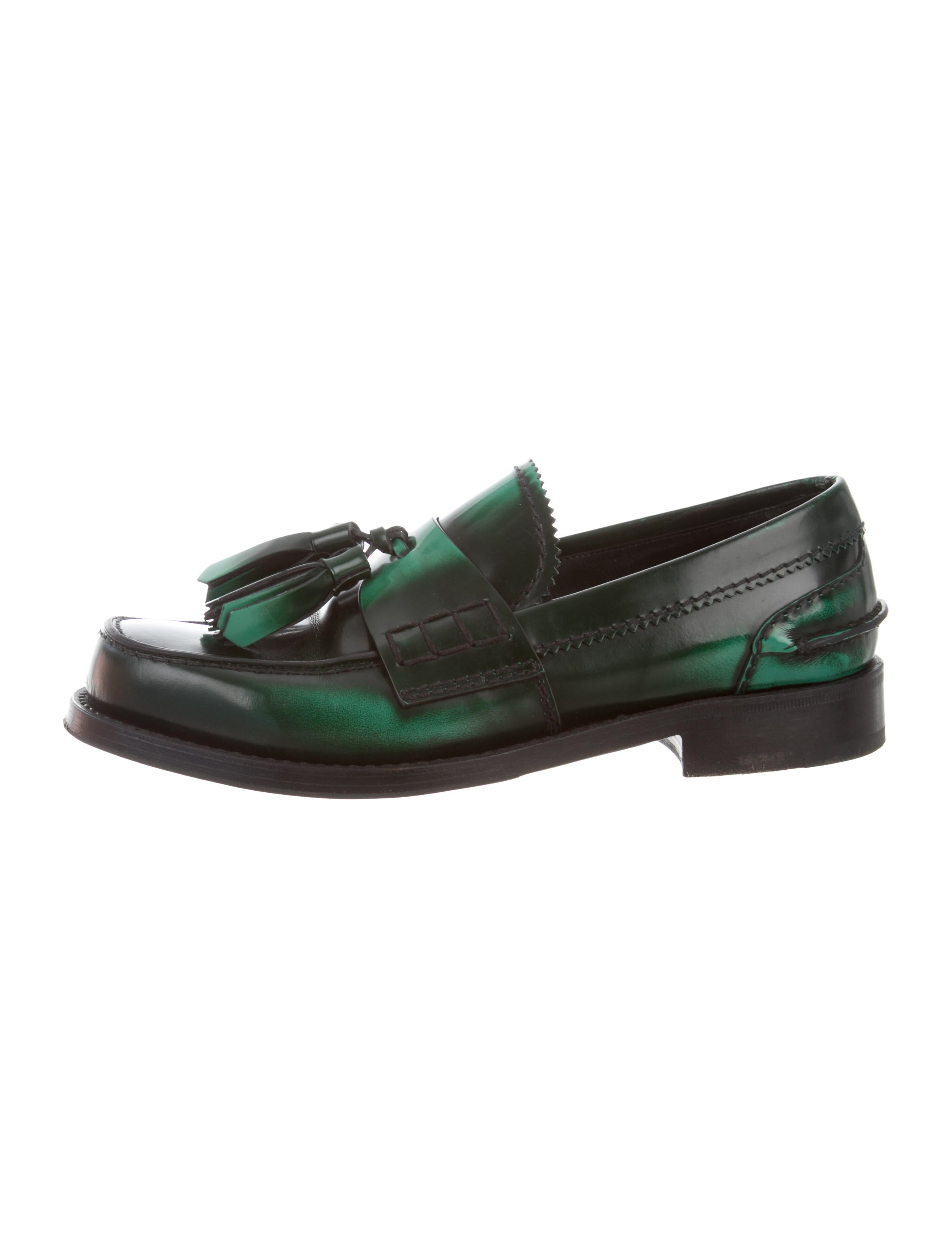 Prada Spazzolato Tassel Loafers - Shoes