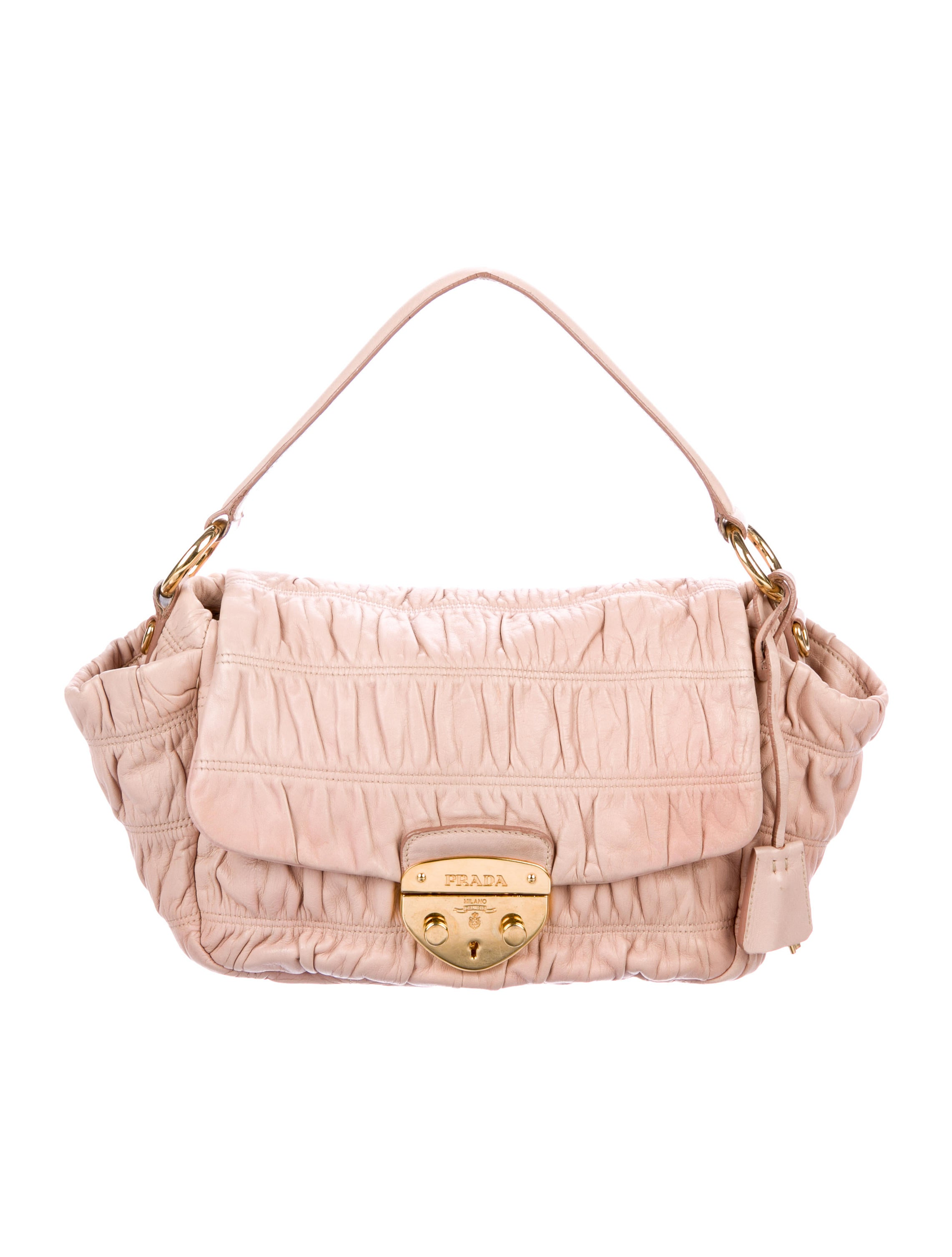 Nappa Gaufre Handle Bag by Prada