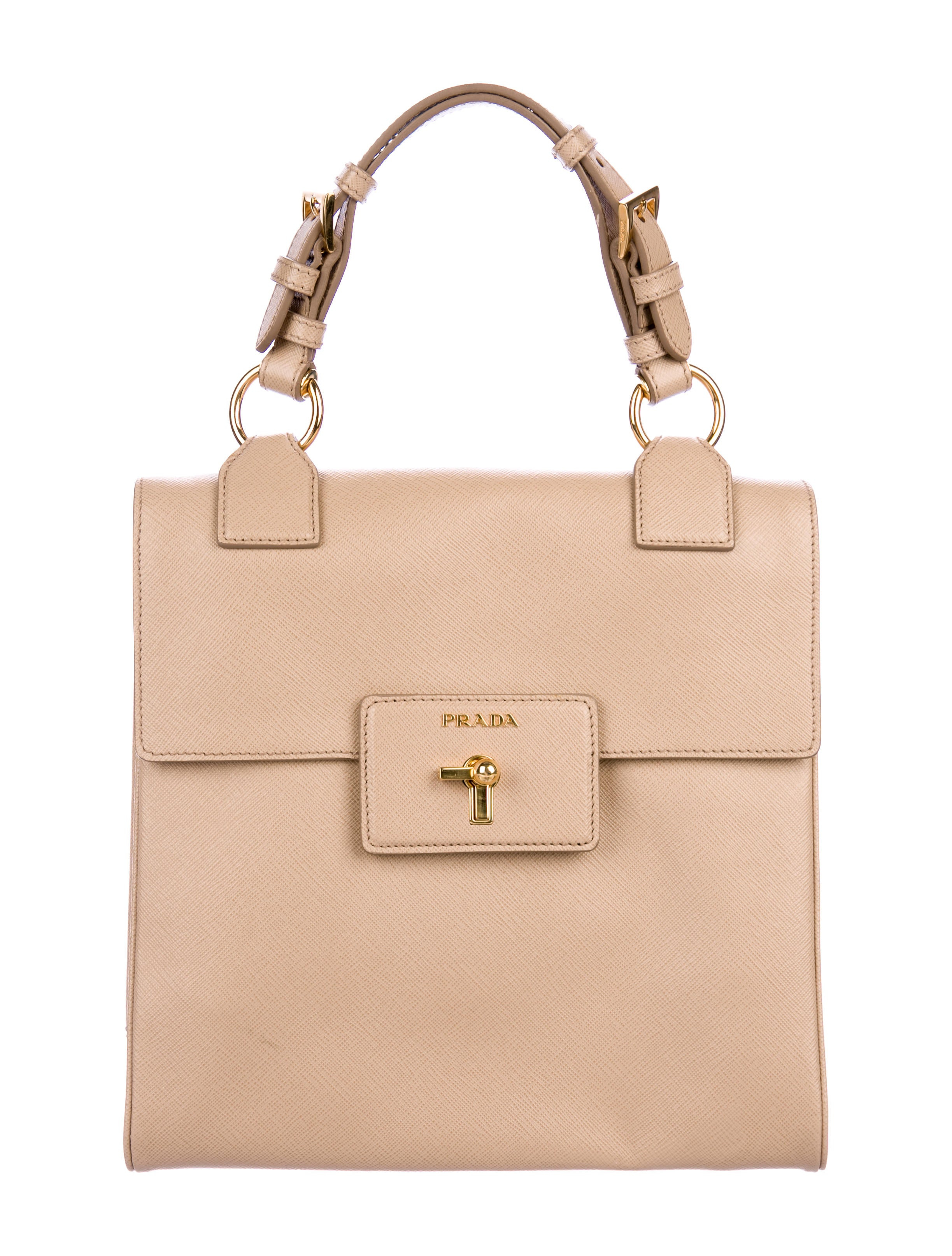 Saffiano Lux Top Handle Bag by Prada