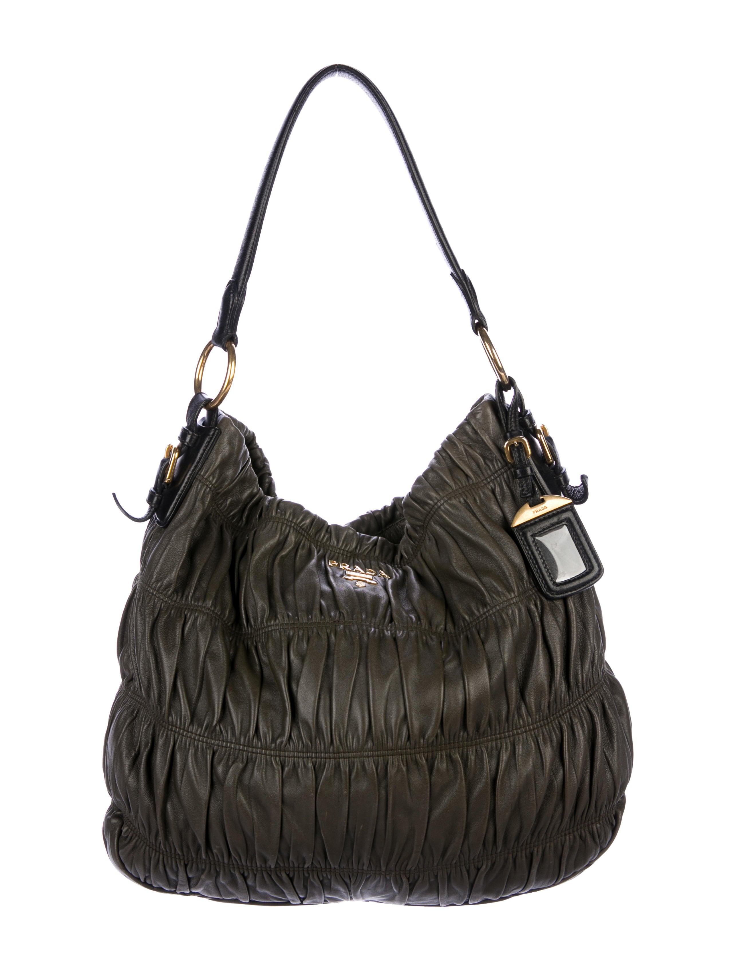 cee7d73f74f5 Prada Nappa Gaufre Satchel - Handbags - PRA239368 | The RealReal