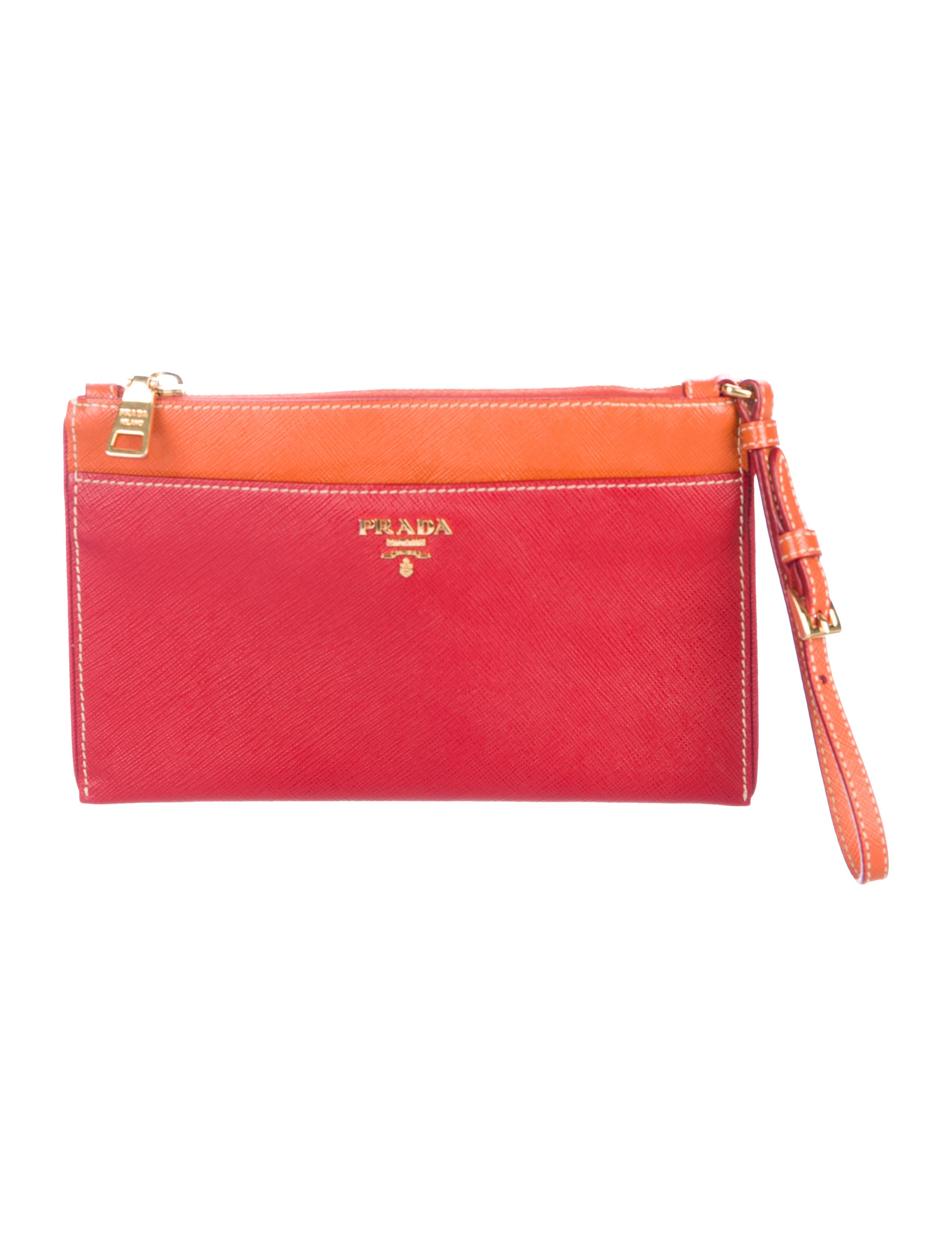 06989c95e1f9 Prada Bicolor Saffiano Wristlet - Handbags - PRA239954 | The RealReal