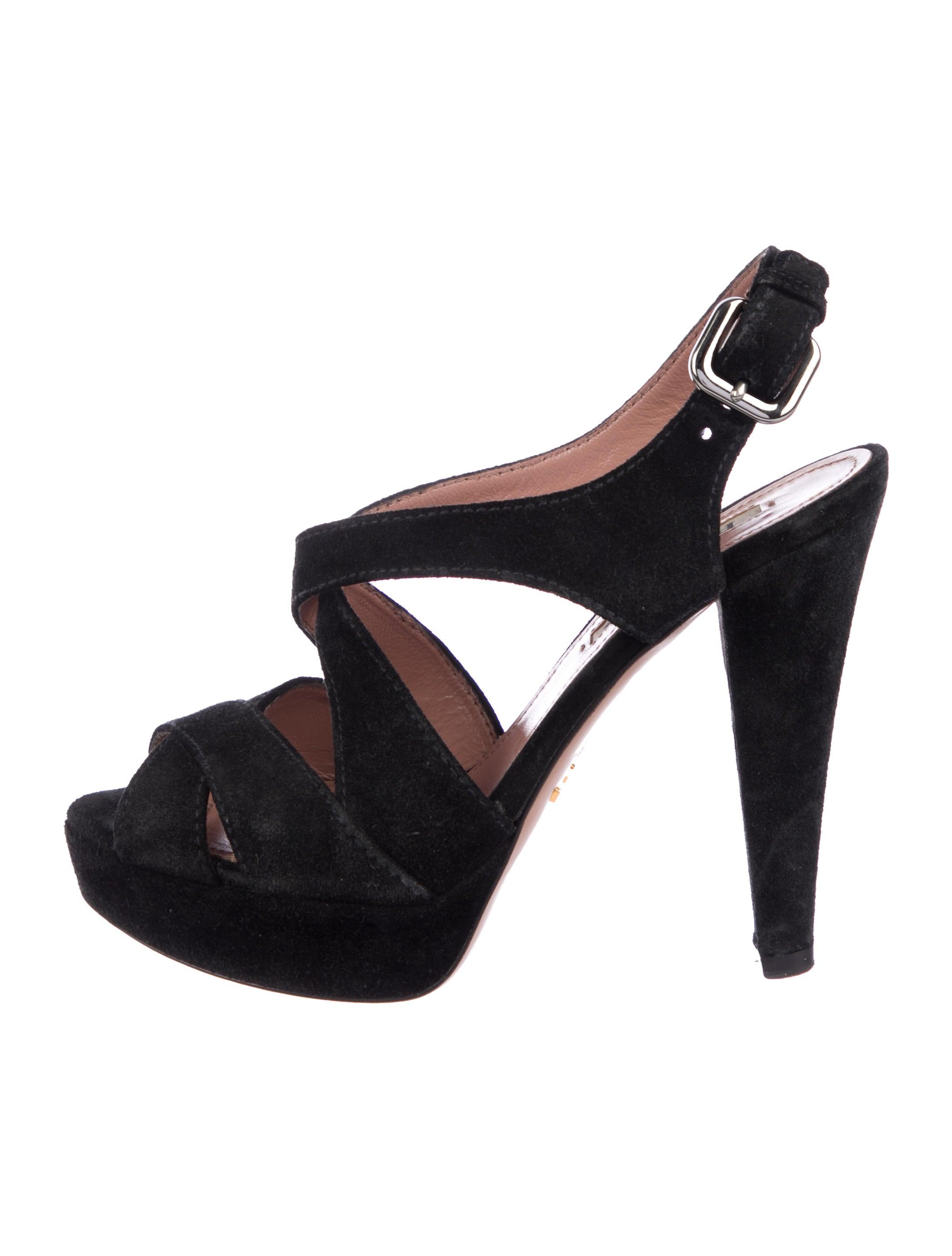 43da1f84d2e Prada Crossover Platform Sandals - Shoes - PRA239990