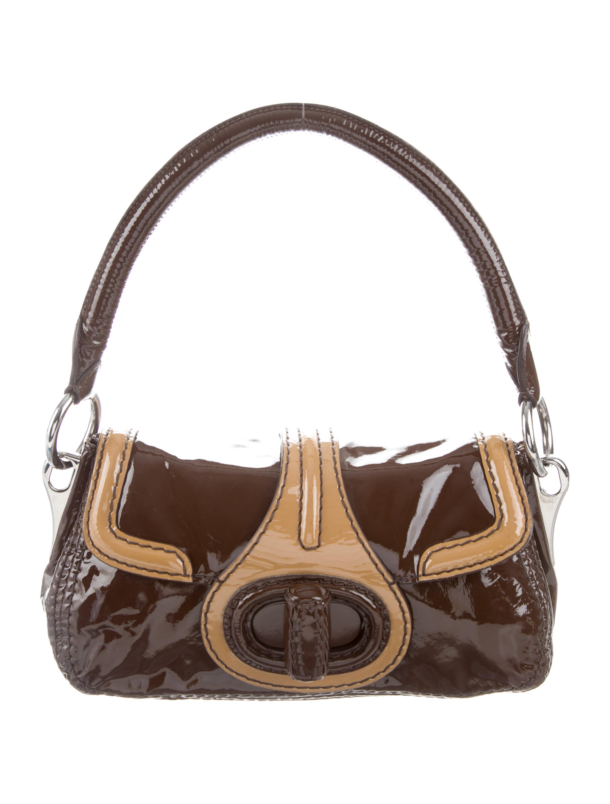 Patent Leather Shoulder Bag by Prada
