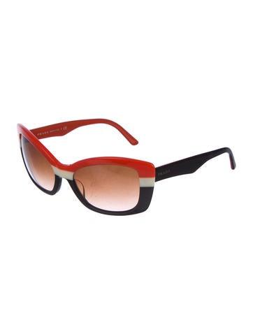 f76fc2d87c8 Prada. Cat-Eye Gradient Sunglasses