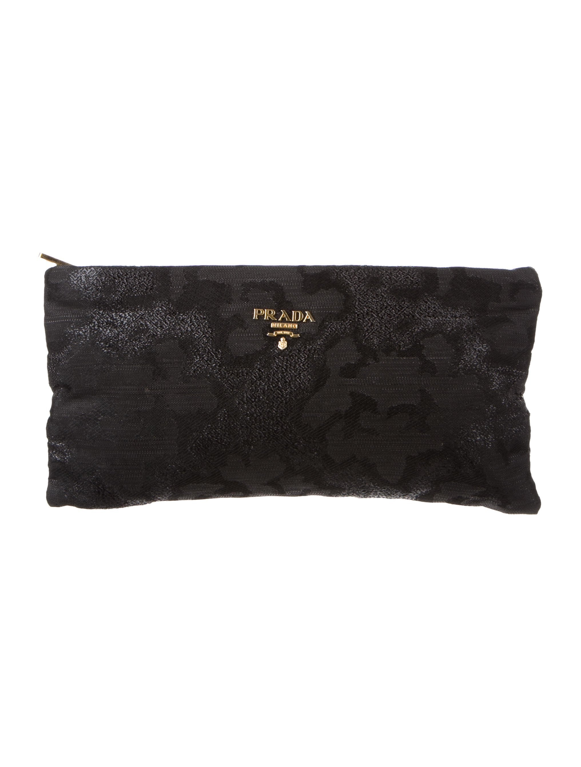 d8248754d3 Prada Woven Zip Clutch - Handbags - PRA240860